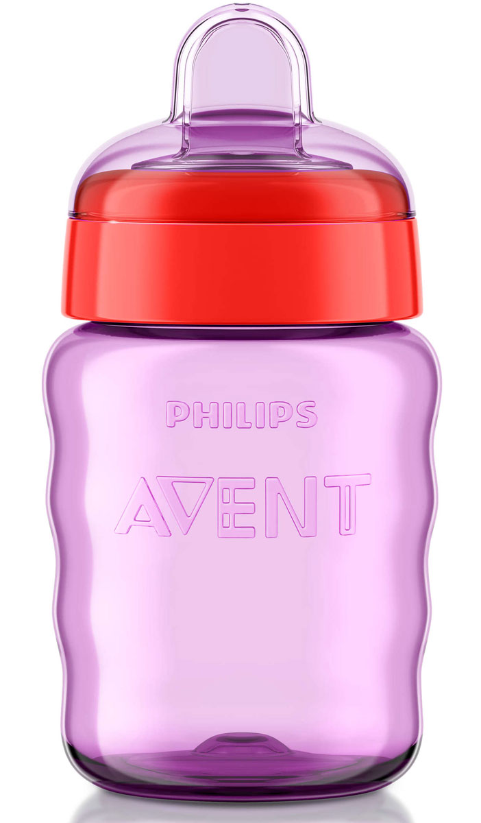 Philips Avent Поильник-непроливайка Comfort от 12 месяцев цвет фиолетовый красный 260 мл SCF553/00