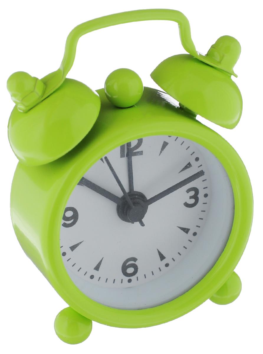 Часы-будильник Sima-land, цвет: салатовый. 1103898FA-2421-4 BlackКак же сложно иногда вставать вовремя! Всегда так хочется поспать еще хотя бы 5 минут и бывает, что мы просыпаем. Теперь этого не случится! Яркий, оригинальный будильник Sima-land поможет вам всегда вставать в нужное время и успевать везде и всюду. Будильник украсит вашу комнату и приведет в восхищение друзей. Эта уменьшенная версия привычного будильника умещается на ладони и работает так же громко, как и привычные аналоги. Время показывает точно и будит в установленный час.На задней панели будильника расположены переключатель включения/выключения механизма, а также два колесика для настройки текущего времени и времени звонка будильника.Будильник работает от 1 батарейки типа LR44 (входит в комплект).
