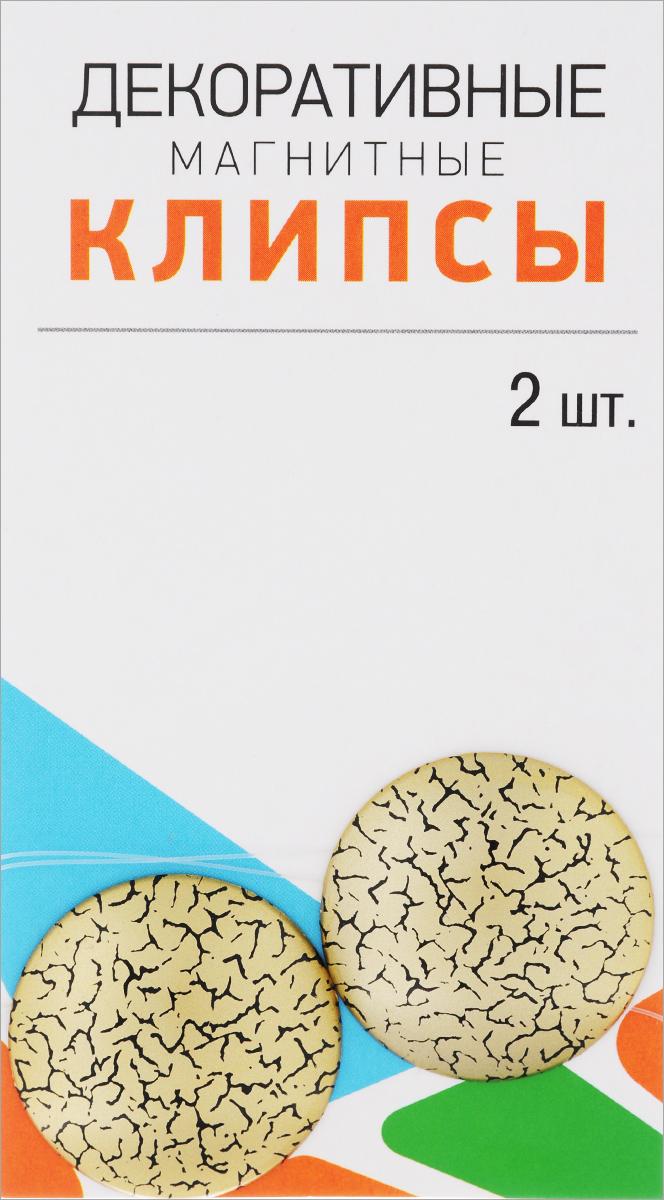 Клипсы магнитные для штор SmolTtx Мелкие трещины, с леской, цвет: золотистый, черный, длина 33,5 см, 2 шт544091_4ДМагнитные клипсы SmolTtx Мелкие трещины предназначены для придания формы шторам. Изделие представляет собой соединенные леской два элемента, на внутренней поверхности которых расположены магниты.С помощью такой клипсы можно зафиксировать портьеры, придать им требуемое положение, сделать складки симметричными или приблизить портьеры.Следует отметить, что такие аксессуары для штор выполняют не только практическую функцию, но также являются одной из основных деталей декора, которая придает шторам восхитительный, стильный внешний вид. Длина клипсы (с учетом лески): 33,5 см. Диаметр клипсы: 3,5 см.