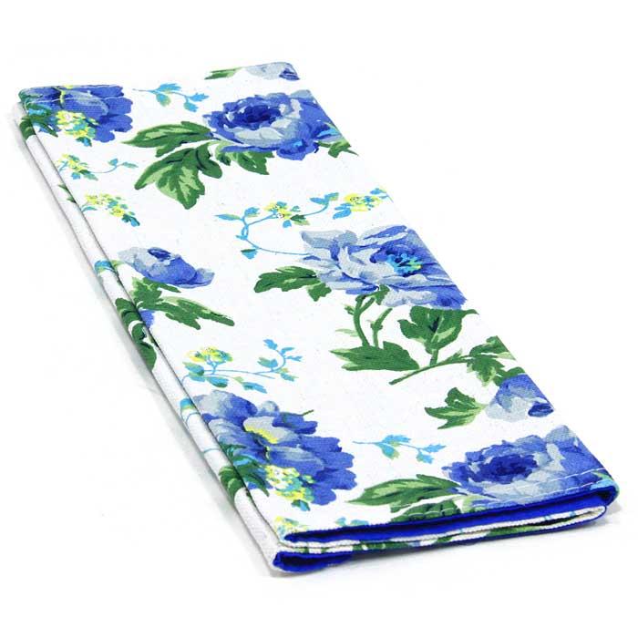 Салфетка Bonita, цвет: синий, белый, зеленый, 30 х 45 см115510Салфетка Bonita выполнена из натурального хлопка. Поверхность салфетки с одной стороны синего цвета, с другой стороны оформлена цветочным рисунком. Такая салфетка защитит ваш стол от воздействия горячей посуды и станет оригинальным дополнением интерьера.