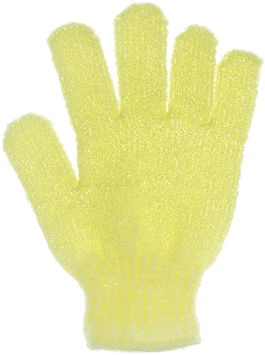 Перчатка массажная The Body Time, цвет: желтый, 17,5 х 12,5 см4630003365187Массажная перчатка The Body Time выполненная из нейлона, прекрасно массирует, тонизирует и очищает кожу. Обладая эффектом скраба, перчатка мягко отшелушивает верхний слой эпидермиса, стимулируя рост новых, молодых клеток, делая кожу здоровой и красивой. Перчатка используется для душа или для массажных процедур.Размер перчатки: 17,5 х 12,5 см.