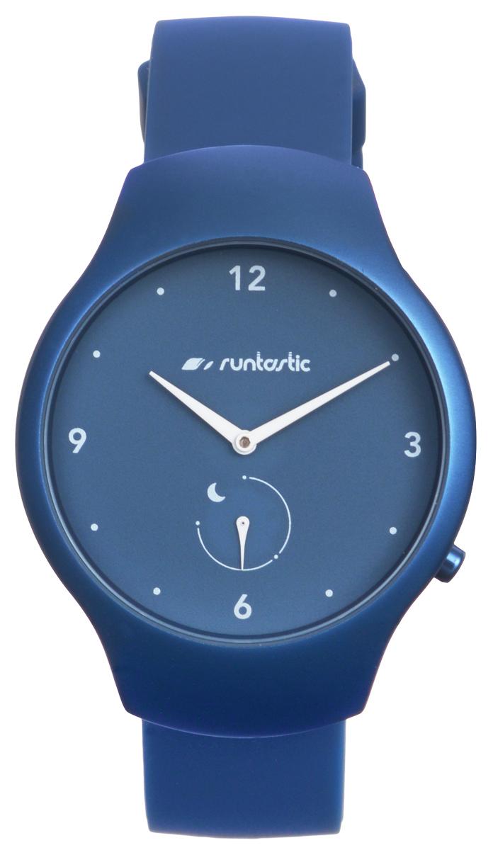 Часы наручные Runtastic Moment Fun, спортивные, цвет: синий. RNT_RUNMOFU2BFB-105Спортивные часы Runtastic Moment Fun выполнены из нержавеющей стали, пластика, силикона и минерального стекла. Модель Runtastic Moment Fun представляет собой стильные наручные часы с круглым аналоговым циферблатом.Многофункциональные спортивные часы оснащены функцией Bluetooth Smart, которая позволит синхронизировать часы с самртфоном. Корпус часов имеет степень водонепроницаемости 100м и дополнен устойчивым к царапинам минеральным стеклом. Ремешок часов выполнен из силикона, а также оснащен практичной пряжкой, которая позволит с легкостью снимать и надевать изделие.Комплект поставки включает: часы, элемент питания, инструмент для замены элемента питания, 4 дополнительных винта.Изделие поставляется в фирменной упаковке.Гаджет способен оживить любой наряд и идеально подходит для активного образа жизни. Высокое качество, свежий дизайн и инновационные технологии позволяют достигать поставленных целей, контролировать ежедневный прогресс.Совместимость с iPhone 4s и более новыми моделями, со смартфонами на базе Android (v4.3 и новее) поддерживающими Bluetooth 4.0 Smart; смартфонами и планшетами на базе Windows Phone (v8.1 и новее), поддерживающими Bluetooth 4.0 Smart.