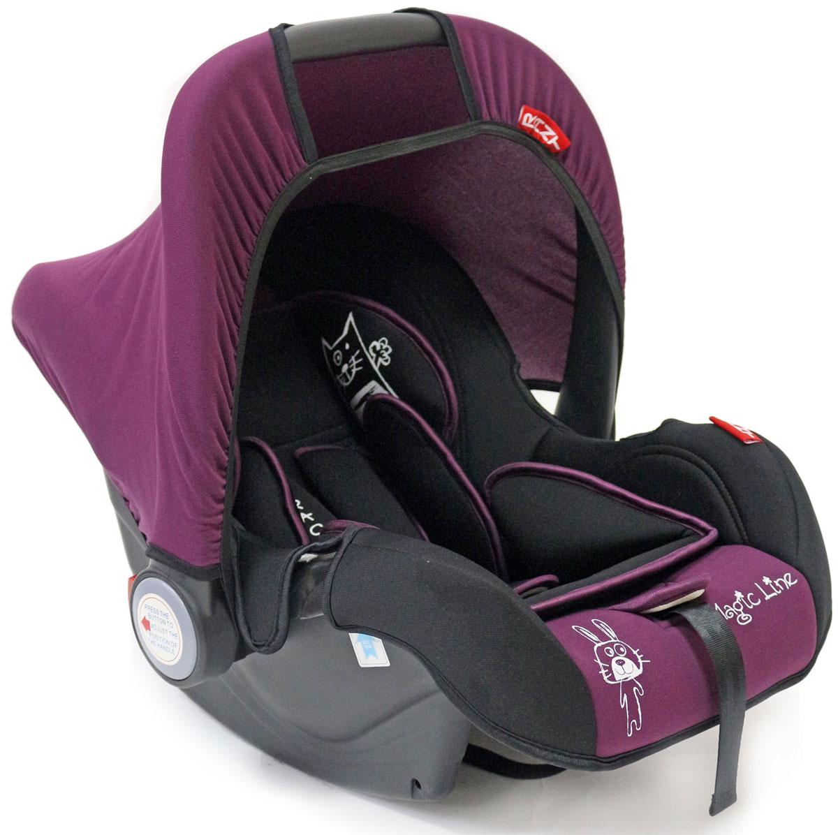 Rant Автокресло Miracle цвет фиолетовый до 13 кг4630008876671Детское автокресло-переноска Rant Miracle разработано для малышей весом до 13 кг (приблизительно до 12 месяцев).Сиденье удобной формы с мягким вкладышем обеспечивает защиту и идеальное положение шеи и спины малыша, а также делает кресло комфортным и безопасным. Автокресло (переноска) Miracle имеет внутренние 3-х точечные ремни безопасности с плечевыми накладками (уменьшают нагрузку на плечи малыша). Накладки обеспечивают плотное прилегание и надежно удержат малыша в кресле в случае ударов. Ремни удобно регулировать под рост и комплекцию ребенка без особых усилий. Удобная ручка для переноски малыша регулируется в 4-х положениях: для устойчивости автокресла в автомобиле, для переноски малыша, вне автомобиля автокресло можно использовать как кресло-качалку или кресло-шезлонг. Съемный тент защитит от яркого солнца или ветра, когда вы гуляете с малышом на свежем воздухе. Съемный чехол автокресла Miracle изготовлен из гипоаллергенной эластичной ткани, легко чистится и стирается вручную или в деликатном режиме в стиральной машине при температуре 30°.Автокресло (переноска) Miracle устанавливается лицом против движения автомобиля и крепится штатными автомобильными ремнями. Ребенок фиксируется внутренними ремнями безопасности. Такое положение обеспечивает максимальную безопасность маленькому пассажиру. Рекомендуется устанавливать автокресло на заднем сиденье автомобиля. Производитель допускает перевозку на переднем сиденье, в этом случае необходимо отключить фронтальные подушки безопасности. Автокресло (переноска) Miracle сертифицировано и соответствует европейскому стандарту безопасности ECE R44-04.