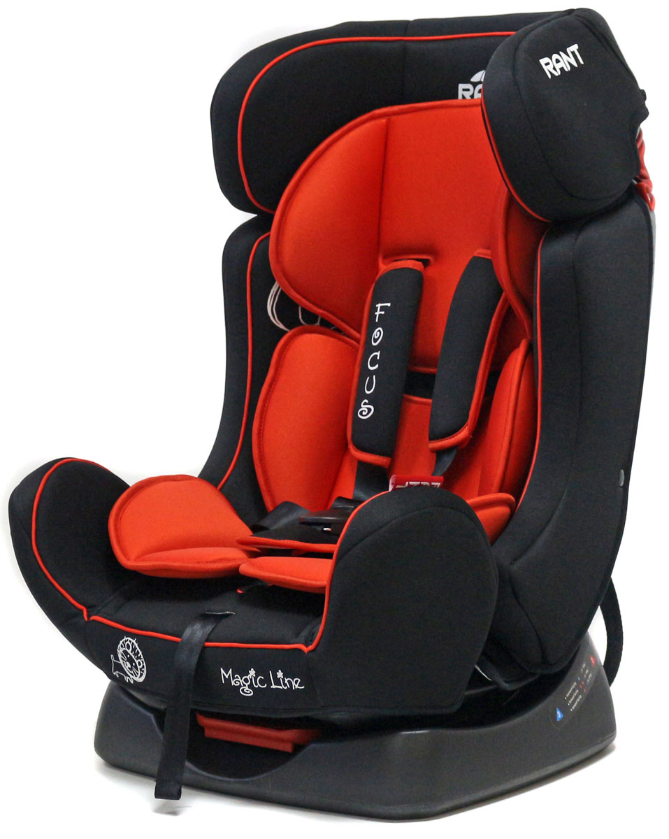 Rant Автокресло Focus цвет красный от 0 до 25 кг4630008874455Автокресло Rant Focus предназначено для детей весом до 25 кг, ориентировочно от рождения до 7 лет.Автомобильное кресло Focus серии Magic Line может устанавливаться как по ходу движения, так и против хода движения. Для новорожденного малыша автокресло фиксируется в автомобиле против хода движения (лицом назад), пока малыш научится хорошо сидеть. С 7-8 месяцев автокресло фиксируется лицом вперед и эксплуатируется приблизительно до 6-7лет (9+, 25 кг.) Сиденье автокресла удобной формы с мягким матрасиком. Наклон сиденья регулируется в трех положениях, предусмотрено положение для сна или 0+.Автокресло оснащено пятиточечными ремнями безопасности с мягкими плечевыми накладками. Накладки обеспечивают плотное прилегание и надежно удержат малыша в кресле в случае ударов. Четыре уровня регулировки высоты внутренних ремней позволяют подобрать удобное положение ремня в зависимости от роста и веса ребенка. В комплект входит зажим для штатного ремня, который фиксирует автомобильный ремень безопасности на определённой высоте. Внутренние ремнями безопасности автокресла предусмотрены для детей весом не более 15-18 кг, детей весом более 18 кг фиксируют в автокресле штатными ремнями безопасности автомобиля. Съемный чехол автокресла Focus изготовлен из высокопрочной, экологичной и эластичной ткани, легко чистится, стирается вручную, или в деликатном режиме в стиральной машине при температуре 30°.Безопасность: Корпус автокресла выполнен из ударопрочного пластика, поглощая и распределяя энергию удара. Боковые накладки существенно снижают вероятность травмирования ребенка при боковых и фронтальных столкновениях. Пятиточечные ремни безопасности с мягкими плечевыми накладками надежно зафиксируют малыша в автокресле. Прочный и практичный замок фиксации ремней безопасности надежно удержит малыша при резких торможениях и толчках. Автокресло Focus сертифицировано и соответствует требованиям Европейского стандарта качества и безопасност