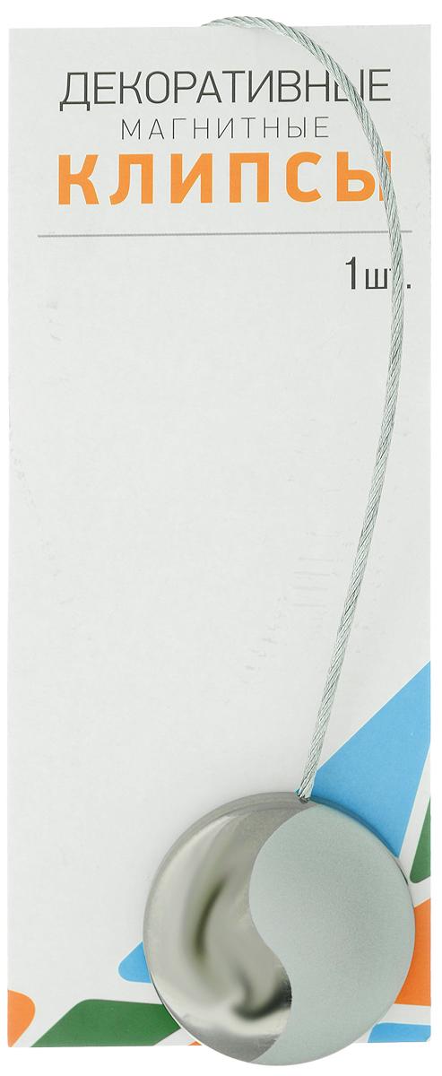 Клипсы магнитные для штор SmolTtx Инь-ян, цвет: серый, серебристый, длина 30 см1004900000360Магнитные клипсы SmolTtx Инь-ян предназначены для придания формы шторам. Изделие представляет собой соединенные тросиком два элемента, на внутренней поверхности которых расположены магниты.С помощью такой клипсы можно зафиксировать портьеры, придать им требуемое положение, сделать складки симметричными.Следует отметить, что такие аксессуары для штор выполняют не только практическую функцию, но также являются одной из основных деталей декора, которая придает шторам восхитительный, стильный внешний вид. Диаметр клипсы: 4,5 см.Длина троса: 30 см.
