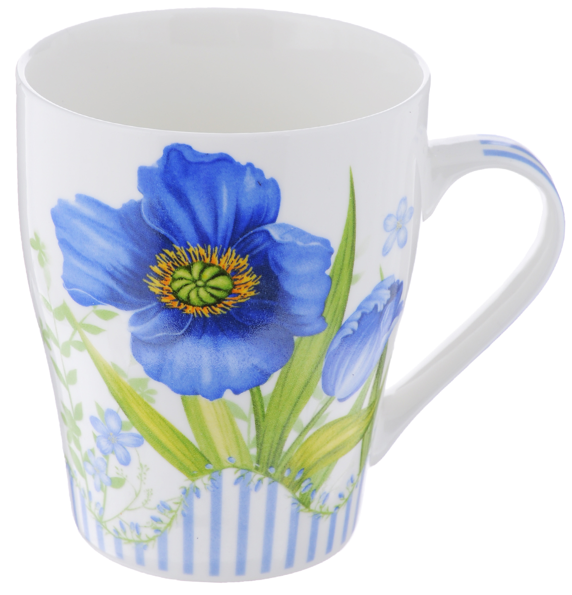 Кружка Loraine Цветок, цвет: белый, синий, 340 мл54 009312Кружка Loraine Цветок изготовлена из высококачественного фарфора. Изделие оформлено изображением цветов. Такая кружка станет приятным сувениром и обязательно порадует вас и ваших близких. Объем: 340 мл. Диаметр кружки (по верхнему краю): 8 см. Высота кружки: 10 см.