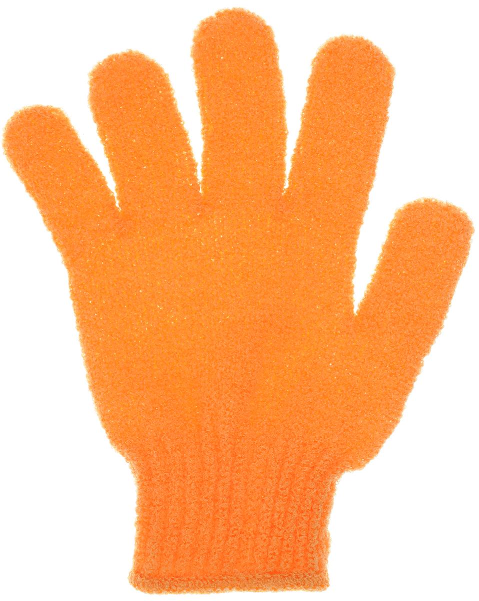 Перчатка массажная The Body Time, цвет: оранжевый, 17,5 х 12,5 смFM 5567 weis-grauМассажная перчатка The Body Time выполненная из нейлона, прекрасно массирует, тонизирует и очищает кожу. Обладая эффектом скраба, перчатка мягко отшелушивает верхний слой эпидермиса, стимулируя рост новых, молодых клеток, делая кожу здоровой и красивой. Перчатка используется для душа или для массажных процедур.Размер перчатки: 17,5 х 12,5 см.