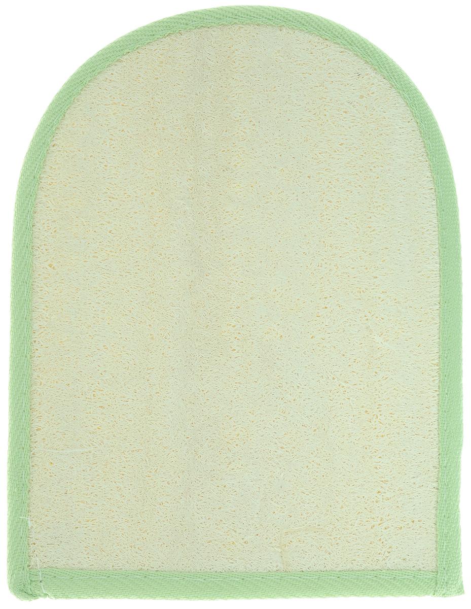 Мочалка-рукавица Home Queen, из люфы, цвет: светло-зеленый, 20 х 16 смМГ001_голубойМочалка-рукавица Home Queen, изготовленная из люфы, прекрасно очищает и массирует кожу, улучшает циркуляцию крови и обмен веществ. Обладает эффектом скраба - мягко отшелушивает верхний слой эпидермиса, стимулируя рост новых, молодых клеток, делает кожу здоровой и красивой. Подходит для ежедневного использования.