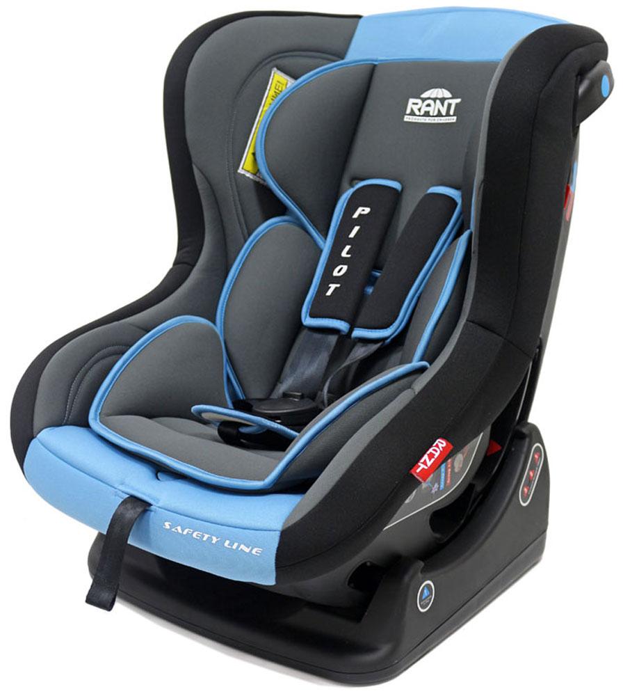 Rant Автокресло Pilot до 18 кг цвет синий4630008874370Детское автокресло Pilot- разработано для детей весом 0-18 кг (ориентировочно с рождения до 4-х лет).Автокресло может устанавливаться как по ходу движения, так и против хода движения. Для новорожденного малыша весом 0-9 кг автокресло фиксируется в автомобиле против хода движения (ребенок лицом назад), пока малыш научится хорошо сидеть. С 7-8 месяцев автокресло фиксируется лицом вперед и эксплуатируется приблизительно до 4-х лет (при весе ребенка 9-18 кг).Особенности:Удобное сидение анатомической формы с мягким матрасиком делает кресло комфортным и безопасным для малышей. Боковая защита обезопасит ребенка от ударов при боковых столкновениях.Спинка автокресла имеет регулировку наклона в 3-х положениях. Положение наклона спинки автокресла для комфортного сна в длительных поездках легко регулируются одной рукой при помощи специального рычага, расположенного в передней части автокресла (под чехлом).Автокресло оснащено пятиточечными ремнями безопасности с мягкими плечевыми накладками (уменьшают нагрузку на плечи малыша). Накладки обеспечивают плотное прилегание и надежно удержат малыша в кресле в случае ударов. Ремни удобно регулировать под рост и комплекцию ребенка без особых усилий.Автокресло Pilot имеет прочную базу, позволяющую устанавливать кресло не только в автомобиле, но и на других ровных твердых поверхностях.Съемный чехол автокресла Pilot изготовлен из гипоаллергенной эластичной ткани, легко чистится и стирается вручную или в деликатном режиме в стиральной машине при температуре 30 градусов.Крепление и установка:Установка автокресла возможно в двух положениях: против хода движения (вес ребенка 0-9 кг) или по ходу движения (вес ребенка 9-18 кг). Кресло легко и быстро крепиться в автомобиле с помощью штатных ремней безопасности. Правильность прохождения ремней безопасности обеспечивается специальными направляющими «зацепками», предусмотренными по бокам автокресла.Безопасность:Корпус из ударопрочного пластика га