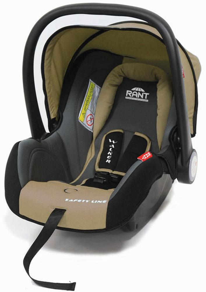 Rant Автокресло Walker цвет бежевый до 13 кг4630008878750Детское автокресло-переноска Walker предназначено для малышей весом до 13 кг (приблизительно до 12 месяцев).Особенности:Сиденье удобной формы с мягким вкладышем обеспечивает защиту и идеальное положение шеи и спины малыша, а также делает кресло комфортным и безопасным. Автокресло (переноска) Walker имеет внутренние 3-х точечные ремни безопасности с плечевыми накладками (уменьшают нагрузку на плечи малыша). Накладки обеспечивают плотное прилегание и надежно удержат малыша в кресле в случае ударов. Ремни удобно регулировать под рост и комплекцию ребенка без особых усилий. Удобная ручка для переноски малыша регулируется в 4-х положениях: для устойчивости автокресла в автомобиле, для переноски малыша, вне автомобиля автокресло можно использовать как кресло-качалку или кресло-шезлонг. Съемный капюшон защитит от яркого солнца или дождя, когда вы гуляете с малышом на свежем воздухе. Съемный чехол автокресла Walker изготовлен из экологичной, эластичной ткани, легко чистится и стирается вручную или в деликатном режиме в стиральной машине при температуре 30°.Установка и крепление: Автокресло (переноска) Walker устанавливается лицом против движения автомобиля и крепится штатными автомобильными ремнями. Ребенок фиксируется внутренними ремнями безопасности. Такое положение обеспечивает максимальную безопасность маленькому пассажиру. Рекомендуется устанавливать автокресло на заднем сиденье автомобиля. Производитель допускает перевозку на переднем сиденье, в этом случае необходимо отключить фронтальные подушки безопасности. Автокресло сертифицировано и соответствует европейскому стандарту безопасности ECE R44-04.