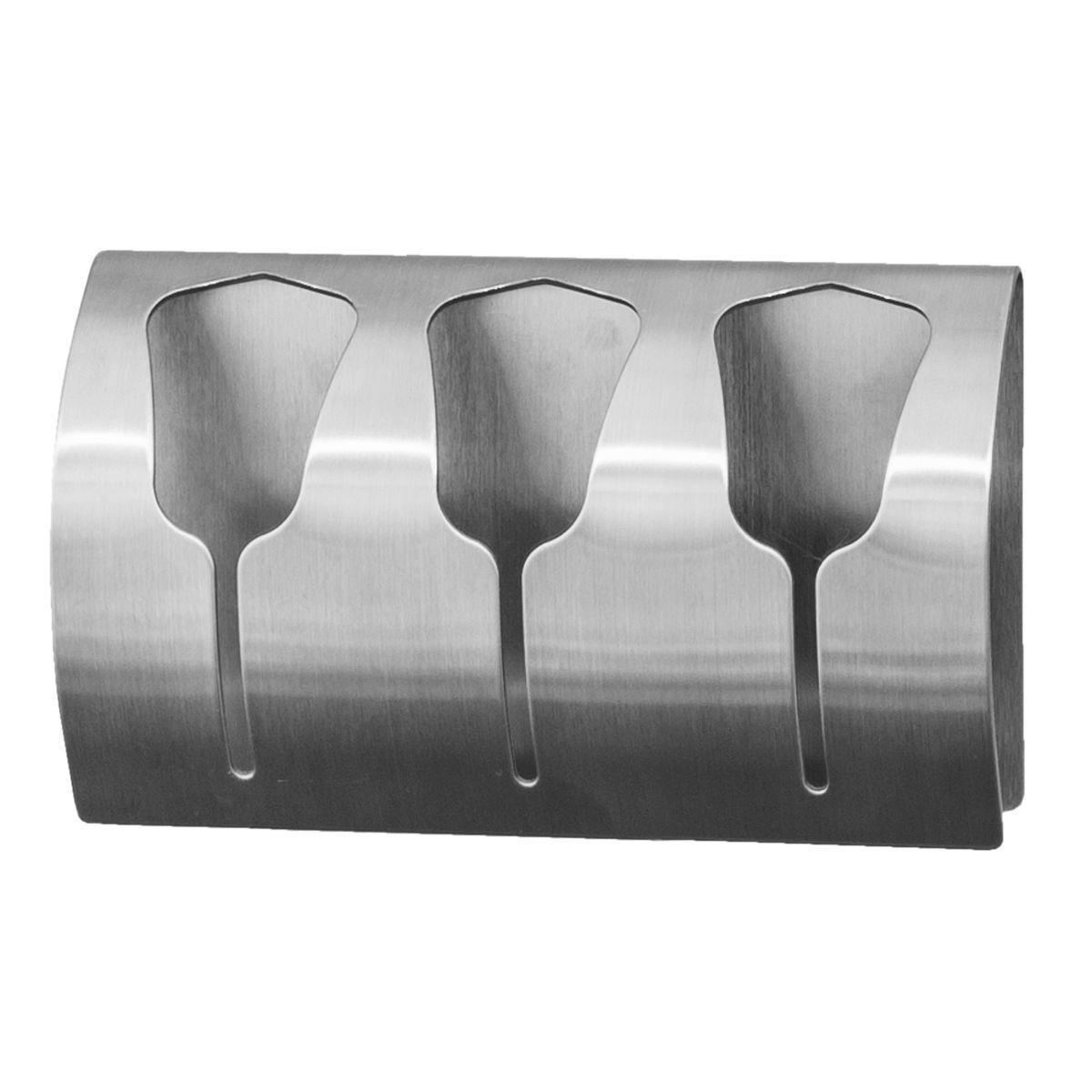 Вешалка Tatkraft Bell, самоклеящийся, для 3 полотенец68/5/3Вешалка Tatkraft Bell - самоклеящаяся вешалка для 3 полотенец из нержавеющей стали, не боится влаги, удобна в использовании. Легкая установка (инструкция на упаковке), надежный клеевой слой, выдерживает вес до 10 кг.