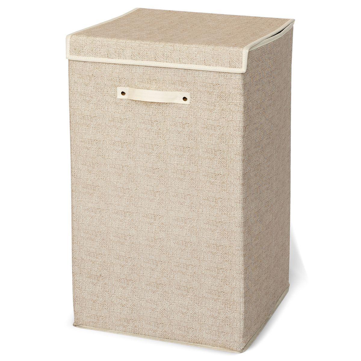 Корзина для белья Artmoon Felix531-105ARTMOON FELIX Корзина для белья 75Л, размер: 35X35X62см, 80 г нетканого полотна, внутренняя вставка из 2 мм картона, легкая сборка, компактна в сложенном виде. Упаковка: пакет со вкладышем.