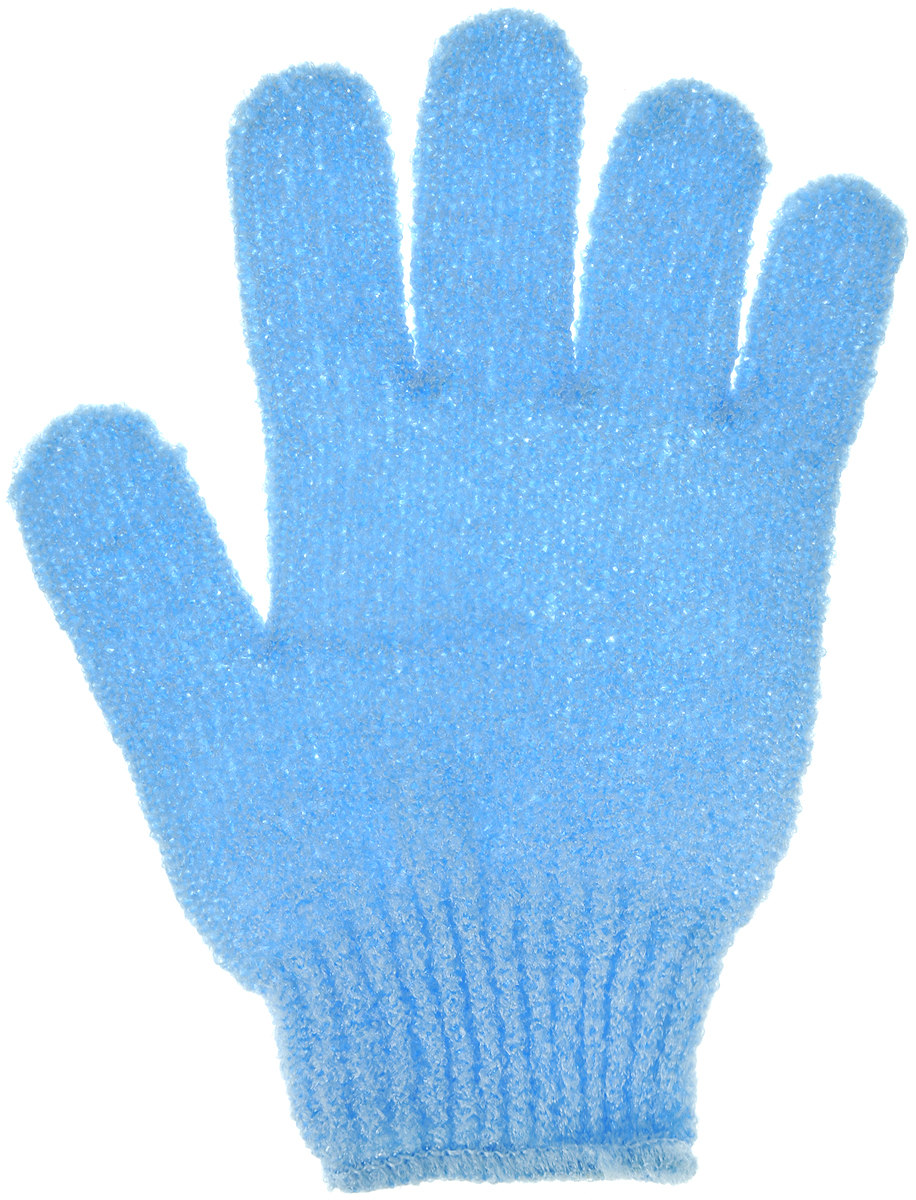 Перчатка массажная The Body Time, цвет: голубой, 17,5 х 12,5 см5720_ голубой1Массажная перчатка The Body Time выполненная из нейлона, прекрасно массирует, тонизирует и очищает кожу. Обладая эффектом скраба, перчатка мягко отшелушивает верхний слой эпидермиса, стимулируя рост новых, молодых клеток, делая кожу здоровой и красивой. Перчатка используется для душа или для массажных процедур.Размер перчатки: 17,5 х 12,5 см.