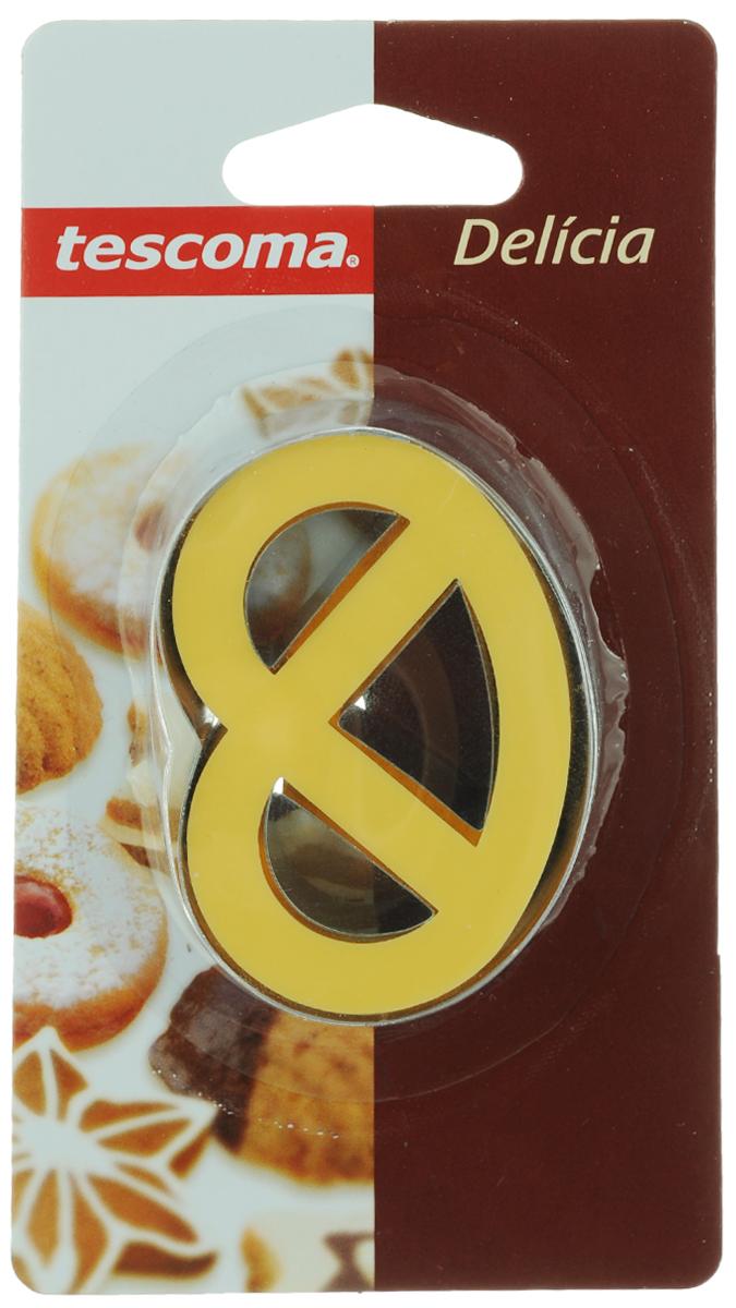 Пресс-форма для печенья Tescoma, цвет: желтый, стальной. 63125440-3Пресс-форма Tescoma для печенья выполнена из высококачественного металла и пластика. С помощью пресс-формы вырежьте из теста форму, перенесите на лист и нажатием пружины выдавите тесто.