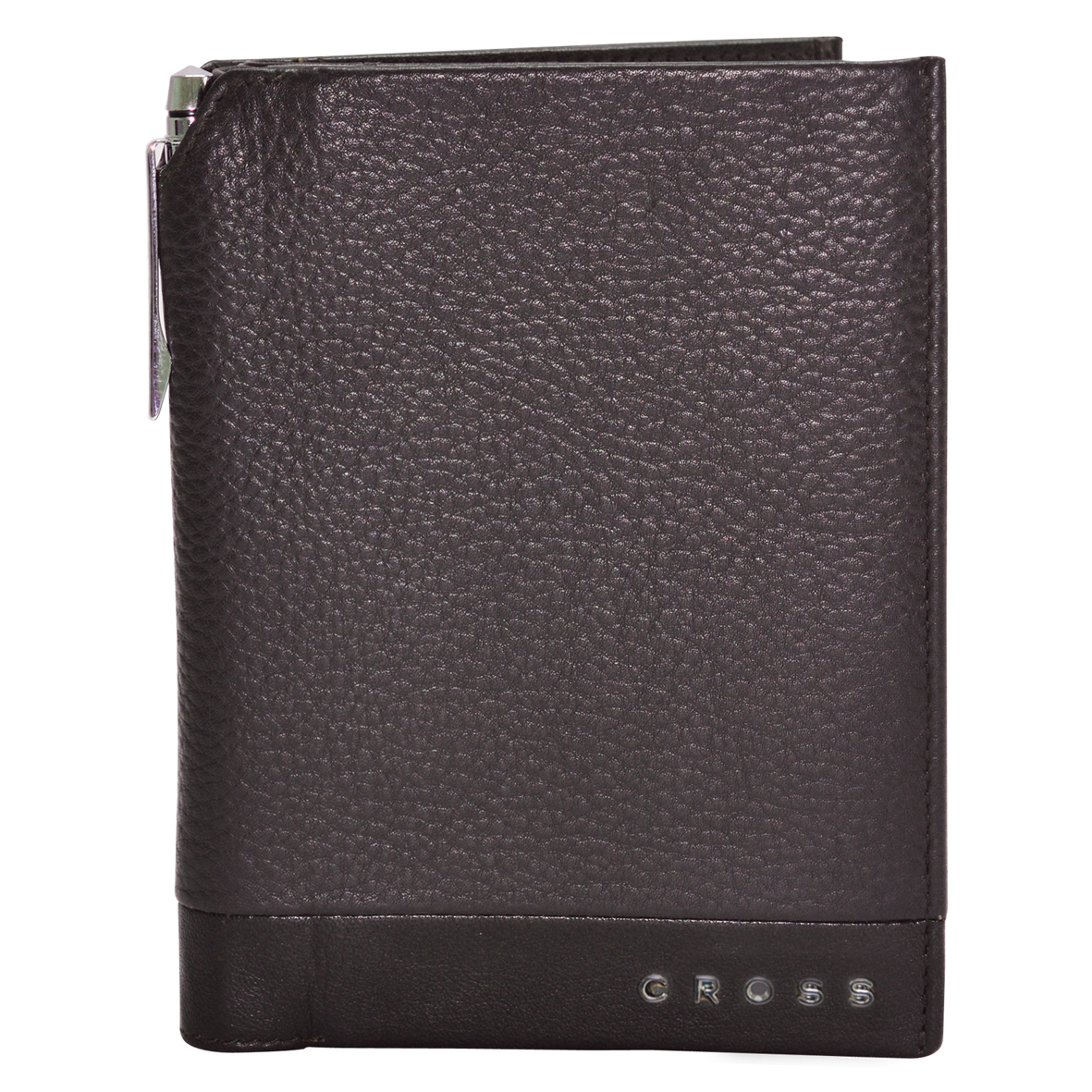 Обложка для документов мужская Cross, цвет: коричневый. AC028389-2A52_108Обложка для документов. Пять отделений для кредитных карт. Один карман-клапан. Универсальный карман. Ручка Cross.
