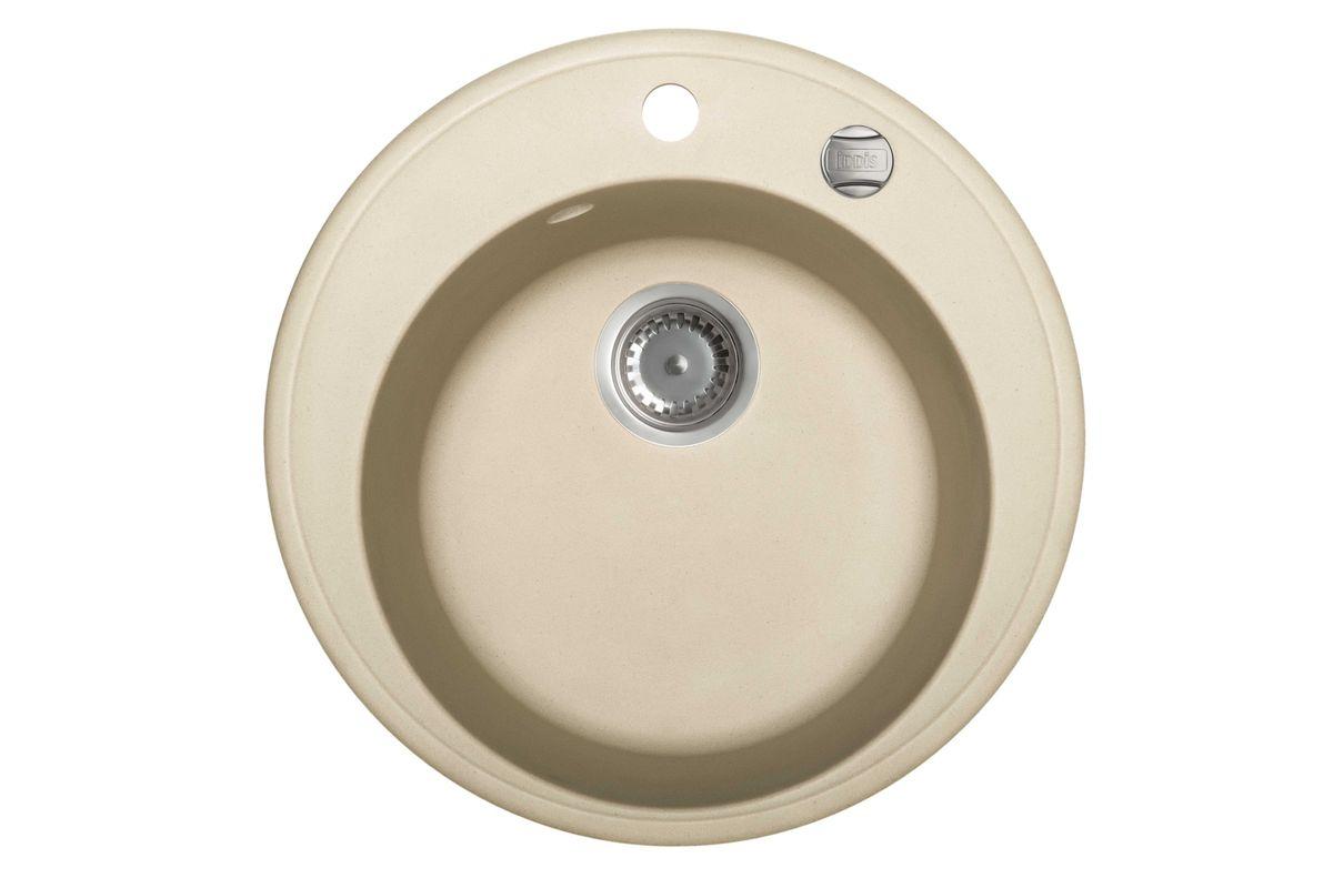 Мойка Iddis Kitchen G, Granucryl, цвет: светло-бежевый, диаметр 51 см. K04S511i87RICCI RRH-2150-SМойки для кухни Iddis производятся из особого материала Granucryl: 80% натуральной гранитной крошки производства Германии, 20% акриловой смолы. Благодаря этому, он имеет высокую устойчивость к физическим и механическим воздействиям, стойкость к воздействию средств бытовой химии и перепадам температур во время эксплуатации - свойства, необходимые для комфортного и надежного использования мойки на современной кухне.Термостойкость. Granucryl выдерживает температуру до 280С, что позволяет хозяйкам ставить на мойку даже раскаленную посуду во время приготовления пищи. Стойкость цвета. Однородность материала Granucryl и высокотемпературная пигментация гранитной крошки обеспечивает первозданную яркость цвета мойки в течение всего периода эксплуатации. Пигментация происходит во вращающихсяпечах при температуре до 600 градусов. Каждая частица гранита химически связывается с пигментом, получая свой неповторимый цвет. При этом цвет никогда не выцветает и не может быть удален с поверхности мойки.Практичность.Мелкие царапины, образующиеся при использовании, не видны на мойках IDDIS благодаря однородной структуре и пигментации гранитной крошки материала Granucryl. Гигиеничность.Состав материала Granucryl препятствует размножению бактерий на поверхности моек, что гарантирует их безопасность в условиях повышенной влажности кухни. Гигиеничность материала Granucryl подтверждена немецким институтом гигиены.Мойки Granucryl имеют полный комплект для установки: шаблон для выреза отверстия в столешнице, крепления, автоматический выпуск с переливом и плоский сифон с возможностью подключения посудомоечной или стиральной машины. Наличие готовых отверстий под смеситель и кнопку донного клапана позволяет быстро и легко установить эти изделия на мойку.Мойки Granucryl, благодаря составу материала, а также толщине 10 мм, поглощают шум воды. Гарантия на мойки Granucryl торговой марки Iddis составляет 10