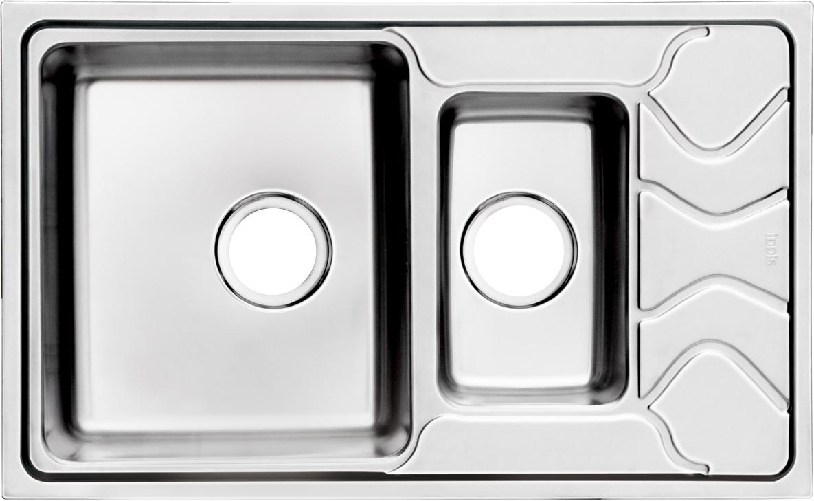 Мойка Iddis Reeva, 1, 1/2, основная чаша слева, 78 х 48 см. REE78SXi77BL505Корпус мойки Iddis Reeva выполнен из специальной нержавеющей стали марки 304 с содержанием хрома 18%, и никеля 10%. Это гарантирует устойчивость к воздействию химических веществ, появлению пятен и коррозии. Толщина стали в мойке 0,9 мм. Специальное дополнительное антишумовое покрытие Silenon, нанесенное на обратную сторону чаш, разработано для снижения шума воды в мойке.Конструкция краев мойки, крепления и специальная уплотнительная прокладка обеспечивает максимально плотное прилегание к столешнице и защищает от протекания. Мойка из нержавеющей стали Iddis имеет изготовленное на заводе отверстие под смеситель, что делает ее полностью готовой к установке. Наличие шаблона для выреза отверстия в столешнице для каждой модели облегчает процесс установки моек Iddis.Гарантия на мойки из нержавеющей стали Iddis составляет 15 лет.Глубина чаш: 210 и 130 мм, размер чаши: 350 х 400 и 180 х 300 мм.