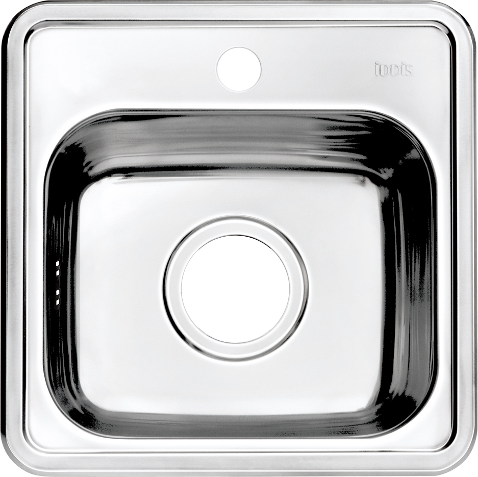 Мойка Iddis Strit, 38 х 38 см. STR38S0i77BL505Корпус мойки Iddis Strit выполнен из специальной нержавеющей стали марки 304 с содержанием хрома 18%, и никеля 10%. Это гарантирует устойчивость к воздействию химических веществ, появлению пятен и коррозии. Толщина стали в мойке 0,8 мм. Специальное дополнительное антишумовое покрытие Silenon, нанесенное на обратную сторону чаш, разработано для снижения шума воды в мойке.Конструкция краев мойки, крепления и специальная уплотнительная прокладка обеспечивает максимально плотное прилегание к столешнице и защищает от протекания. Мойка из нержавеющей стали Iddis имеет изготовленное на заводе отверстие под смеситель, что делает ее полностью готовой к установке. Наличие шаблона для выреза отверстия в столешнице для каждой модели облегчает процесс установки моек Iddis.Гарантия на мойки из нержавеющей стали Iddis составляет 15 лет.Глубина чаши: 152 мм, размер чаши: 310 х 285 мм.