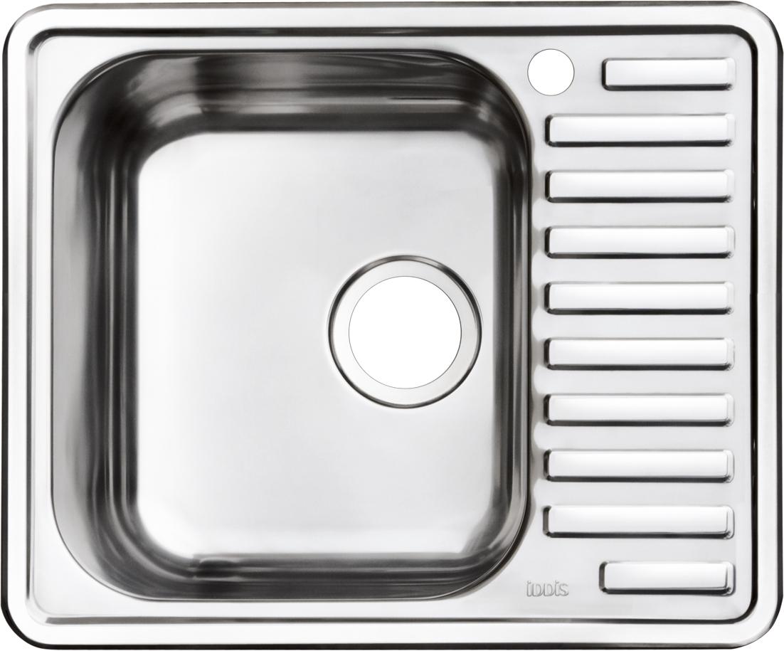Мойка Iddis Strit, полированная, чаша слева, 58,5 х 48,5 см. STR58PLi77BL505Корпус мойки Iddis Strit выполнен из специальной нержавеющей стали марки 304 с содержанием хрома 18%, и никеля 10%. Это гарантирует устойчивость к воздействию химических веществ, появлению пятен и коррозии. Толщина стали в мойке 0,8 мм. Специальное дополнительное антишумовое покрытие Silenon, нанесенное на обратную сторону чаш, разработано для снижения шума воды в мойке.Конструкция краев мойки, крепления и специальная уплотнительная прокладка обеспечивает максимально плотное прилегание к столешнице и защищает от протекания. Мойка из нержавеющей стали Iddis имеет изготовленное на заводе отверстие под смеситель, что делает ее полностью готовой к установке. Наличие шаблона для выреза отверстия в столешнице для каждой модели облегчает процесс установки моек Iddis.Гарантия на мойки из нержавеющей стали Iddis составляет 15 лет.Глубина чаши: 180 мм, размер чаши: 355 х 410 мм.