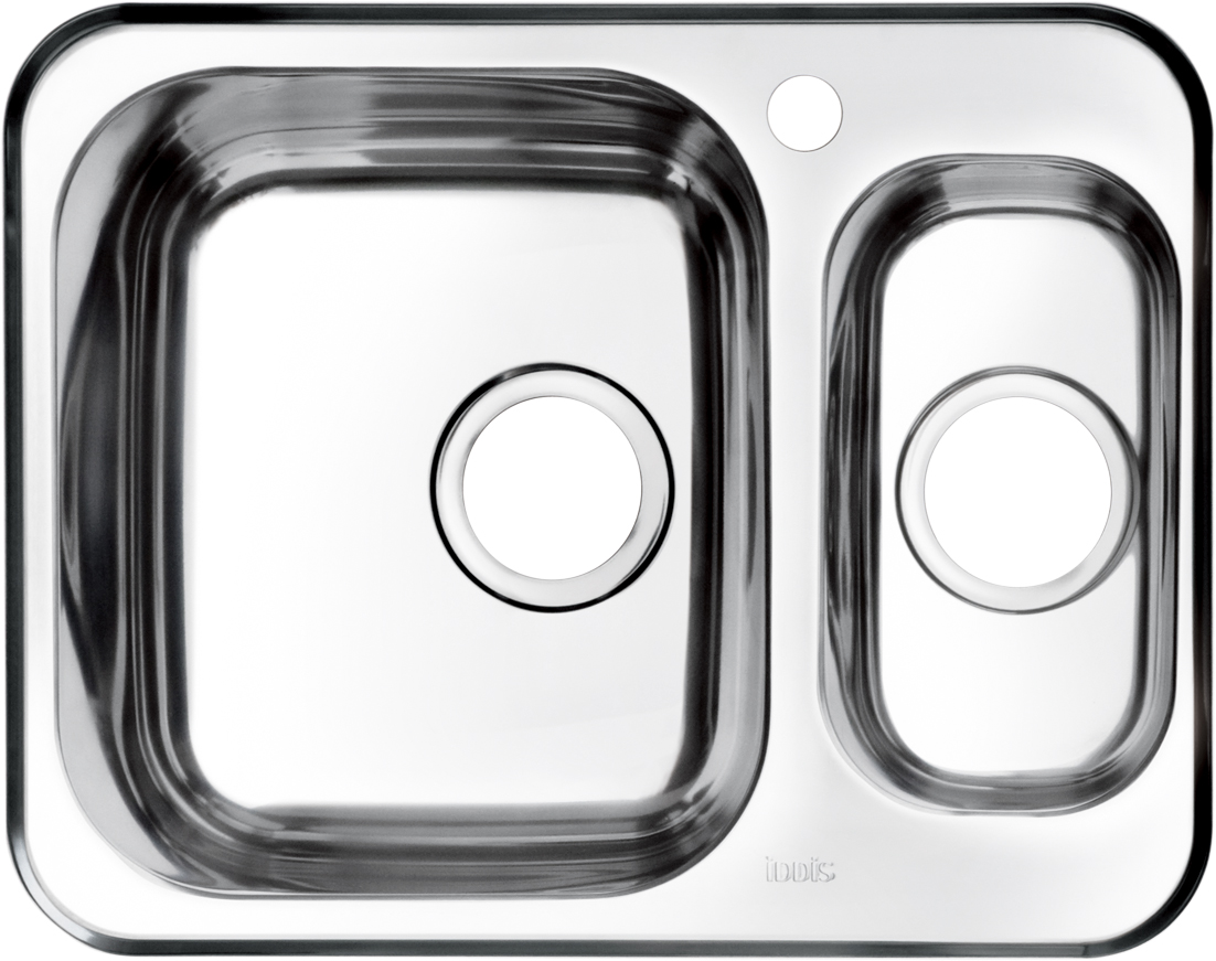 Мойка Iddis Strit, полированная, 1, 1/2, основная чаша слева, 60,5 х 48 см. STR60PXi77TKO 2403Корпус мойки Iddis Strit выполнен из специальной нержавеющей стали марки 304 с содержанием хрома 18%, и никеля 10%. Это гарантирует устойчивость к воздействию химических веществ, появлению пятен и коррозии. Толщина стали в мойке 0,8 мм. Специальное дополнительное антишумовое покрытие Silenon, нанесенное на обратную сторону чаш, разработано для снижения шума воды в мойке.Конструкция краев мойки, крепления и специальная уплотнительная прокладка обеспечивает максимально плотное прилегание к столешнице и защищает от протекания. Мойка из нержавеющей стали Iddis имеет изготовленное на заводе отверстие под смеситель, что делает ее полностью готовой к установке. Наличие шаблона для выреза отверстия в столешнице для каждой модели облегчает процесс установки моек Iddis.Гарантия на мойки из нержавеющей стали Iddis составляет 15 лет.Глубина чаш: 180 и 125 мм, размер чаш: 330 х 380 и 162 х 300 мм.