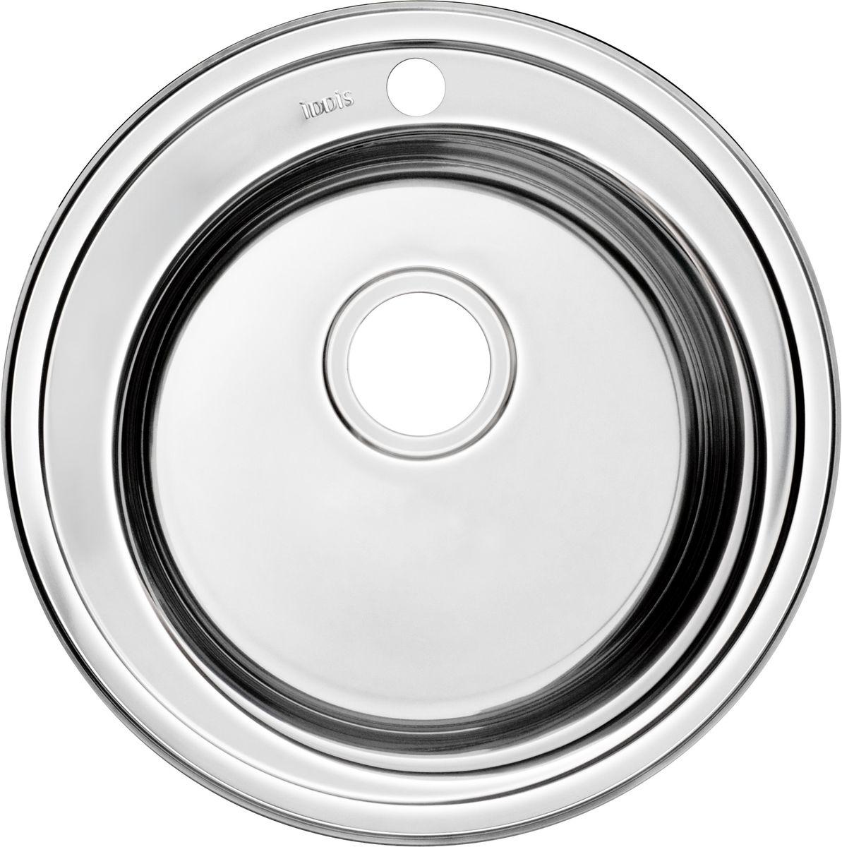 Мойка Iddis Suno, полированная, диаметр 50,5 см. SUN50P0i77BL505Корпус мойки Iddis Suno выполнен из специальной нержавеющей стали марки 304 с содержанием хрома 18%, и никеля 10%. Это гарантирует устойчивость к воздействию химических веществ, появлению пятен и коррозии. Толщина стали в мойке 0,8 мм. Специальное дополнительное антишумовое покрытие Silenon, нанесенное на обратную сторону чаш, разработано для снижения шума воды в мойке.Конструкция краев мойки, крепления и специальная уплотнительная прокладка обеспечивает максимально плотное прилегание к столешнице и защищает от протекания. Мойка из нержавеющей стали Iddis имеет изготовленное на заводе отверстие под смеситель, что делает ее полностью готовой к установке. Наличие шаблона для выреза отверстия в столешнице для каждой модели облегчает процесс установки моек Iddis.Гарантия на мойки из нержавеющей стали Iddis составляет 15 лет.Глубина чаши: 180 мм, диаметр чаши: 410 мм.