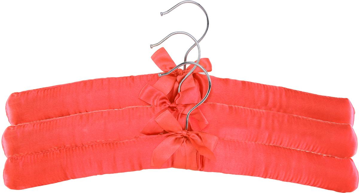 Набор вешалок для одежды Home Queen, цвет: красный, 3 штBH-UN0502( R)Набор Home Queen состоит из трех вешалок, изготовленных из дерева и текстиля. Вешалки идеально подойдут для деликатной одежды из шерсти и нежных тканей. Набор Home Queen станет практичным и полезным в вашем гардеробе. С ним ваша одежда избежит ненужных растяжек и провисаний. Комплектация: 3 шт.Размер вешалки: 38 х 3,5 х 11,5 см.