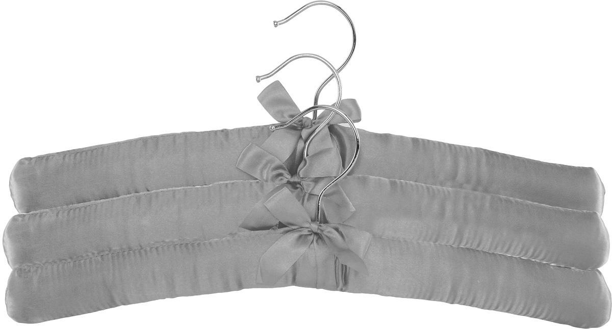 Набор вешалок для одежды Home Queen, цвет: серый, 3 шт57026Набор Home Queen состоит из трех вешалок, изготовленных из дерева и текстиля. Вешалки идеально подойдут для деликатной одежды из шерсти и нежных тканей. Набор Home Queen станет практичным и полезным в вашем гардеробе. С ним ваша одежда избежит ненужных растяжек и провисаний. Комплектация: 3 шт.Размер вешалки: 38 х 3,5 х 11,5 см.