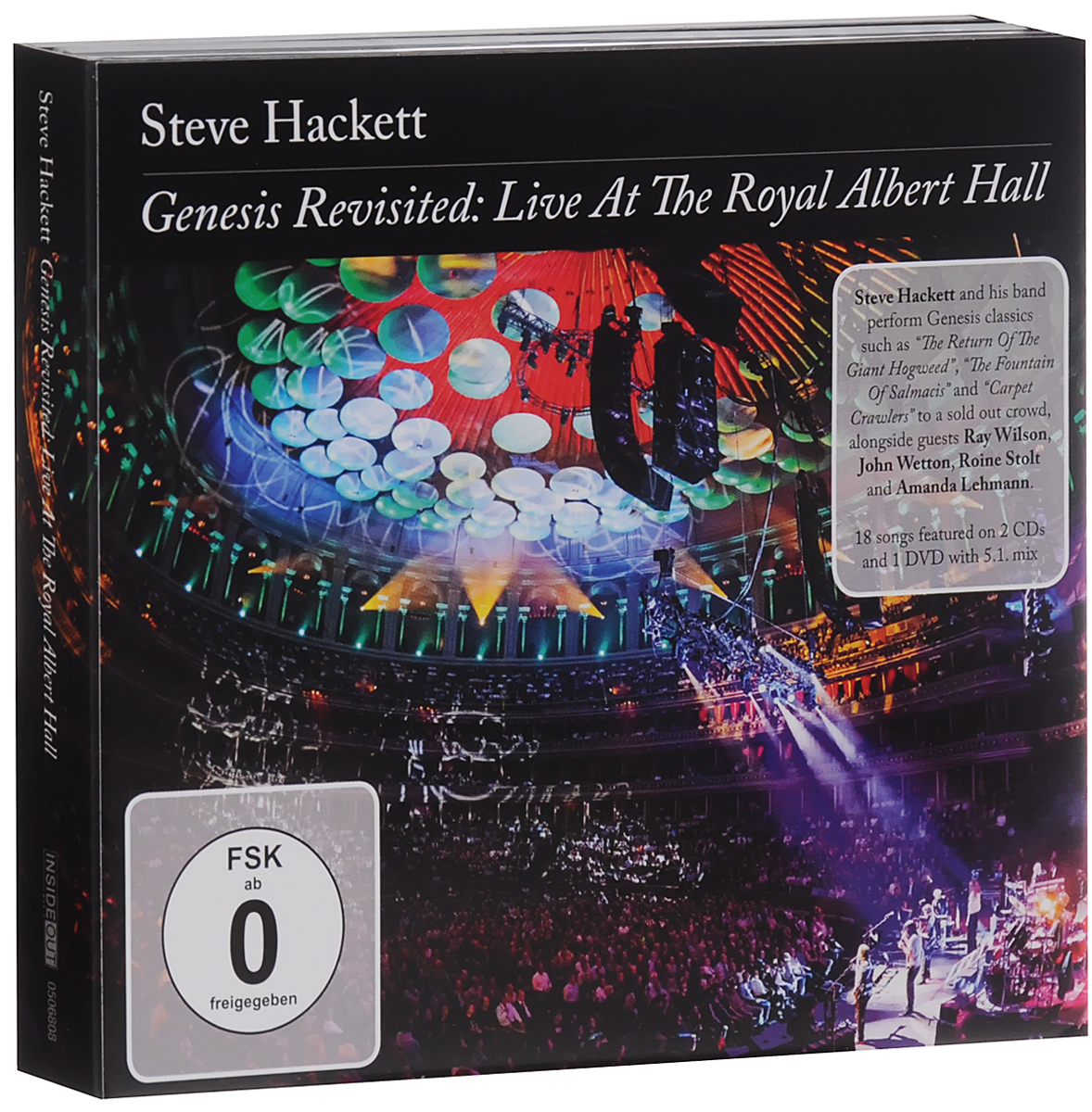 Стив Хэкетт Steve Hackett. Genesis Revisited. Live At The Royal Albert Hall (2 CD + DVD) pantera pantera reinventing hell the best of pantera cd dvd