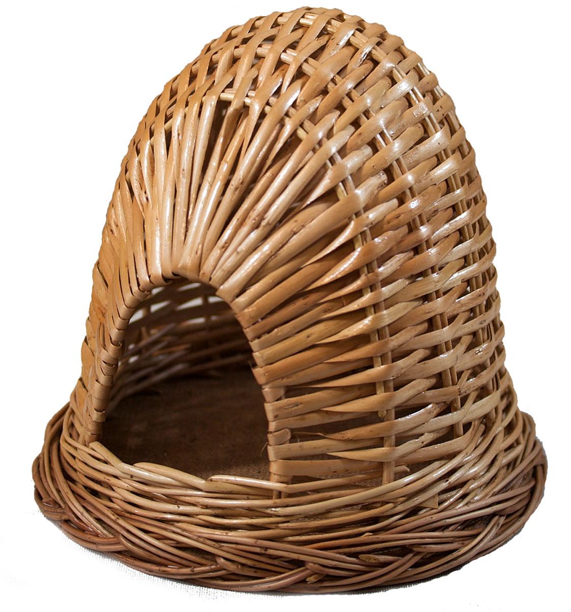Домик для хомячка из лозы №2 17,5х17,5х17FIDB-9031Домик, плетеный из лозы. Ручная работа. Натуральный ивовый прут.