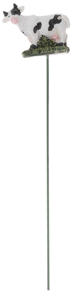 Штекер декоративный Green Apple Буренка, для цветочного горшка, цвет: белый, черный, зеленый, длина 25 смZ-0307Декоративный штекер Green Apple Беренка предназначен для разрыхления почвы в цветочных горшках и украшения цветочной композиции. Основание штекера изготовлено из стали и покрыто темно-зеленой эмалью, фигурка выполнена из полистоуна.Декоративный штекер Green Apple Буренка станет приятным и оригинальным украшением цветочного горшка.Размер фигурки: 6 х 3 х 5 см.