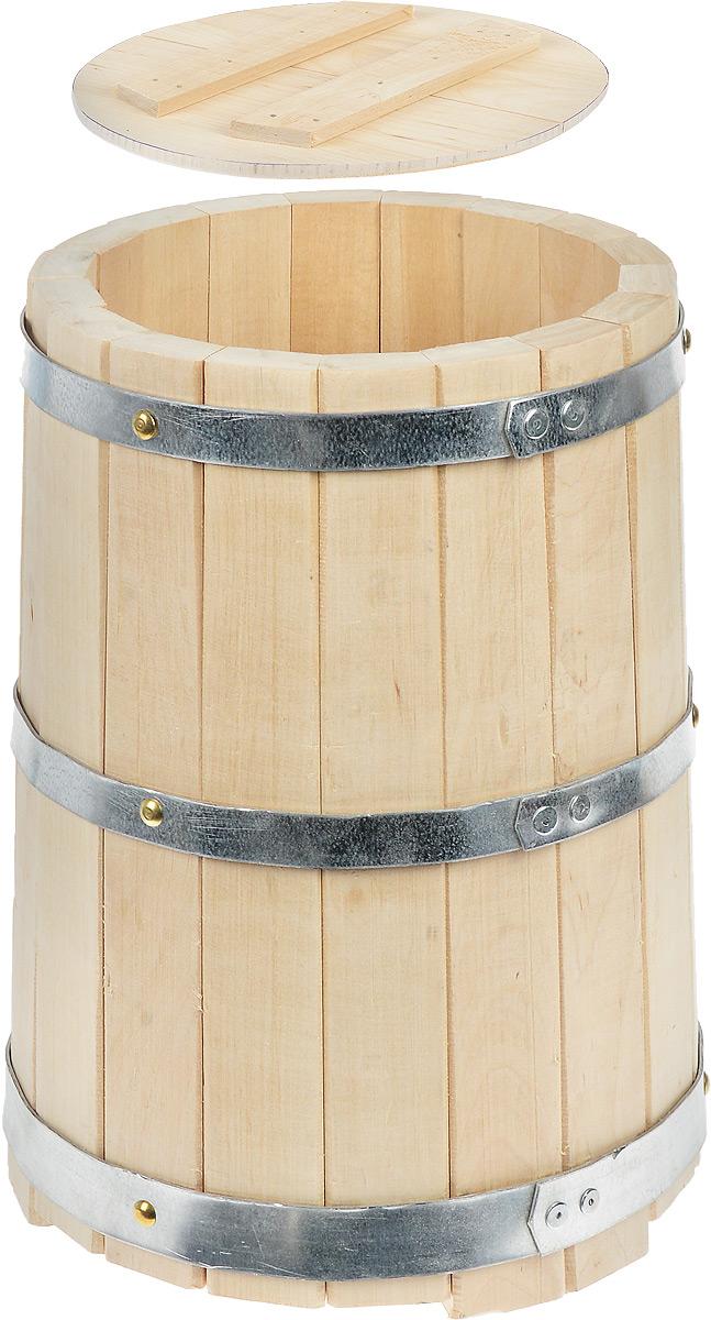 Кадка для бани Proffi Sauna, с гнетом, 10 лAPS-4L-01Кадка с гнетом Proffi Sauna выполнена из брусков березы, стянутых тремя металлическими обручами. Она прекрасно подойдет для замачивания веника или других банных процедур.Кадка является одной из тех приятных мелочей, без которых не обойтись при принятии банных процедур.Эксплуатация бондарных изделий.Перед первым использованием бондарное изделие рекомендуется подготовить. Для этого нужно наполнить изделие холодной водой и оставить наполненным на 2-3 часа. Затем необходимо воду слить, обдать изделие сначала горячей, потом холодной водой. Не рекомендуется оставлять бондарные изделия около нагревательных приборов, а также под длительным воздействием прямых солнечных лучей.С момента начала использования бондарного изделия не рекомендуется оставлять его без воды на срок более 1 недели. Но и продолжительное время хранить в таких изделиях воду тоже не следует.После каждого использования необходимо вымыть и ошпарить изделие кипятком. В качестве моющих средств желательно использовать пищевую соду либо раствор горчичного порошка.Правильное обращение с бондарными изделиями позволит надолго сохранить их эксплуатационные свойства и продлить срок использования! Объем кадки: 10 л. Диаметр кадки по верхнему краю: 23 см. Диаметр основания кадки: 27 см. Высота кадки: 36 см.