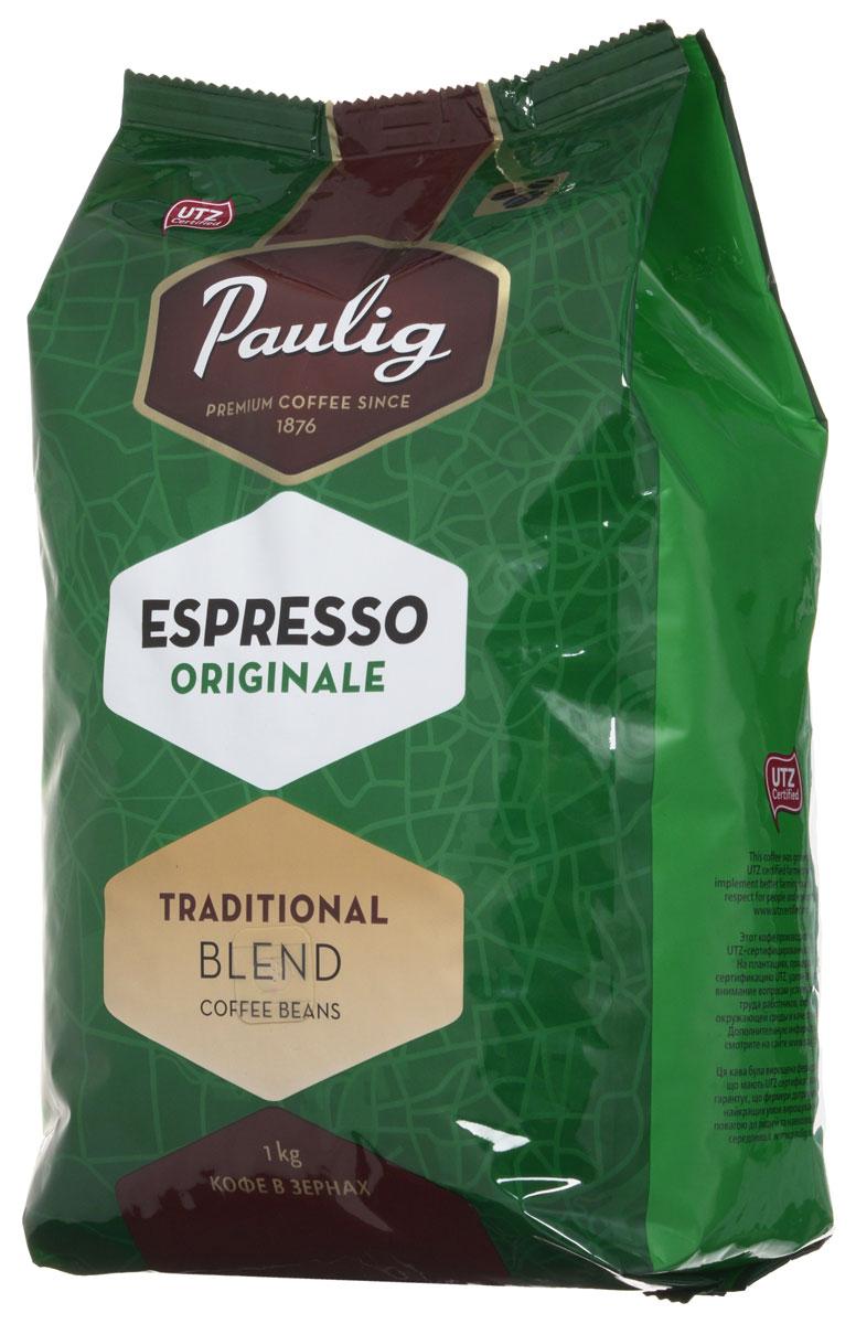 Paulig Espresso Originale кофе в зернах, 1 кг16283/16278Кофе в зернах Paulig Espresso Originale - это высококачественный кофе итальянского типа с нежным и в тоже время крепким вкусом для приготовления эспрессо. Изготовлен из сладких бразильских и отборных центрально американских сортов. Эспрессо имеет повышенную плотность и насыщенность.