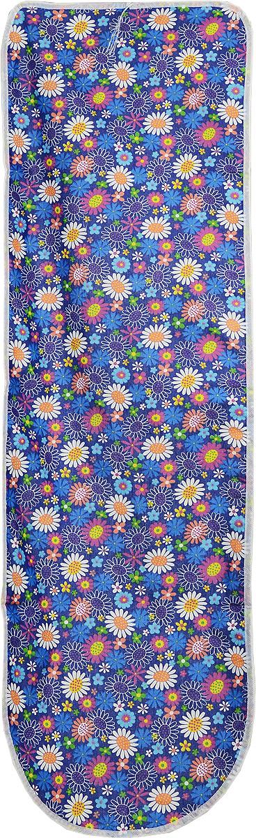 Чехол для гладильной доски Eva Detalle, цвет: синий, 120 х 37 смGC240/25Чехол для гладильной доски Eva Detalle, выполненный из хлопка с подкладкой из мягкого войлока, предназначен для защиты или замены изношенного покрытия гладильной доски. Из войлочного полотна вы можете вырезать подкладку любого размера, подходящую именно для вашей доски. Чехол препятствует образованию блеска и отпечатков металлической сетки гладильной доски на одежде. Этот качественный чехол обеспечит вам легкое глажение. Размер чехла: 120 x 37 см.Размер войлочного полотна: 130 х 52 см. Размер доски, для которой предназначен чехол: 115 x 32 см.