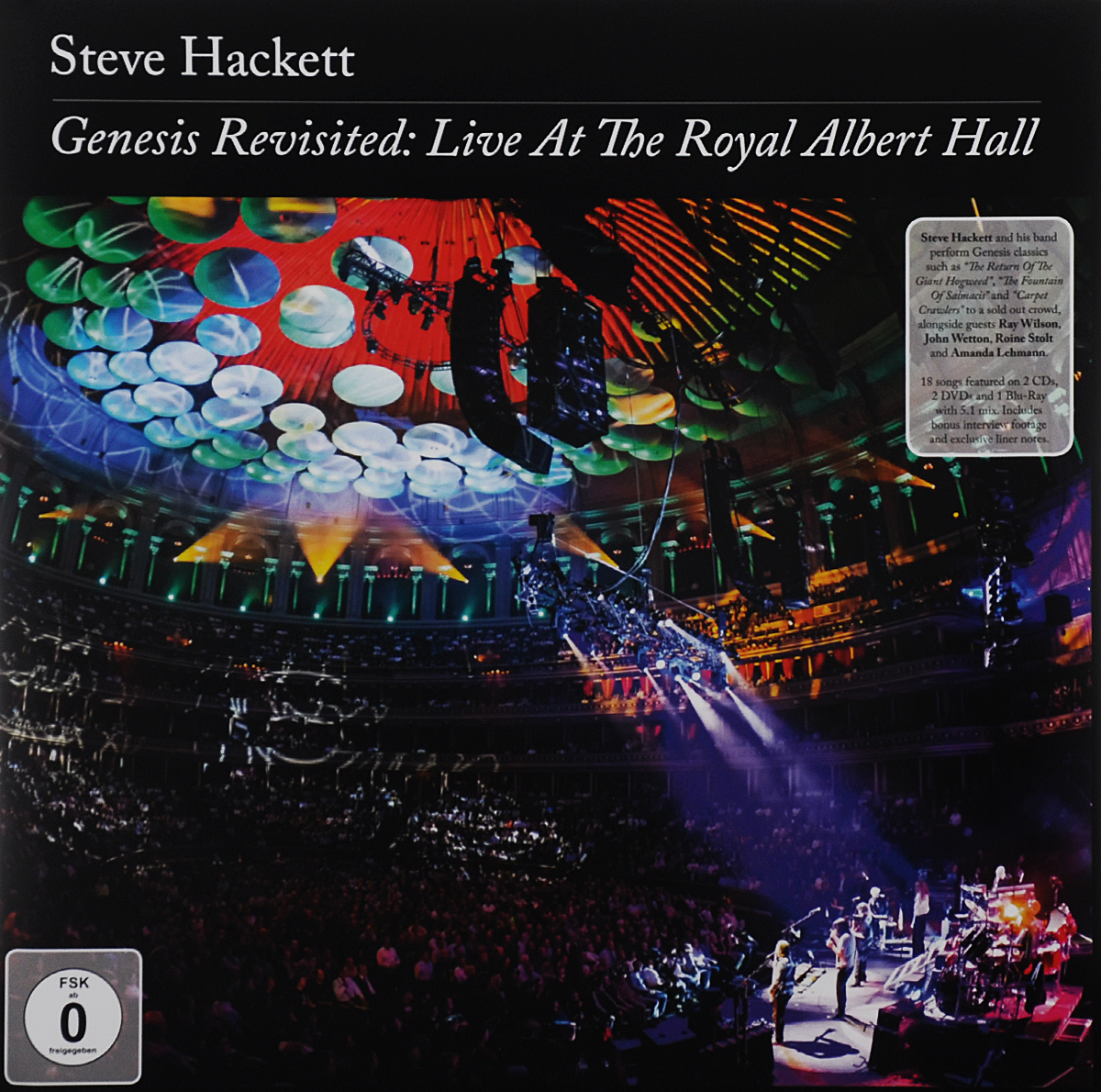 Стив Хэкетт Steve Hackett. Genesis Revisited. Live At The Royal Albert Hall (2 CD + 2 DVD + Blu-ray) genesis genesis turn it on again the hits