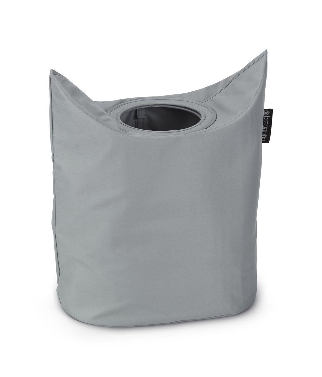 Сумка для белья Brabantia, цвет: серый. 102448391602Оригинальная сумка для белья экономит место и превращает вашу стирку в увлекательное занятие. С помощью складывающихся магнитных ручек сумка закрывается и превращается в корзину для белья с загрузочным отверстием. Собрались стирать? Поднимите ручки, и ваша сумка готова к использованию. Загрузочное отверстие для быстрой загрузки белья – просто сложите магнитные ручки; Большие удобные ручки для переноски; Удобно загружать белье в стиральную машину – большая вместимость и широкое отверстие; 2 года гарантии Brabantia.
