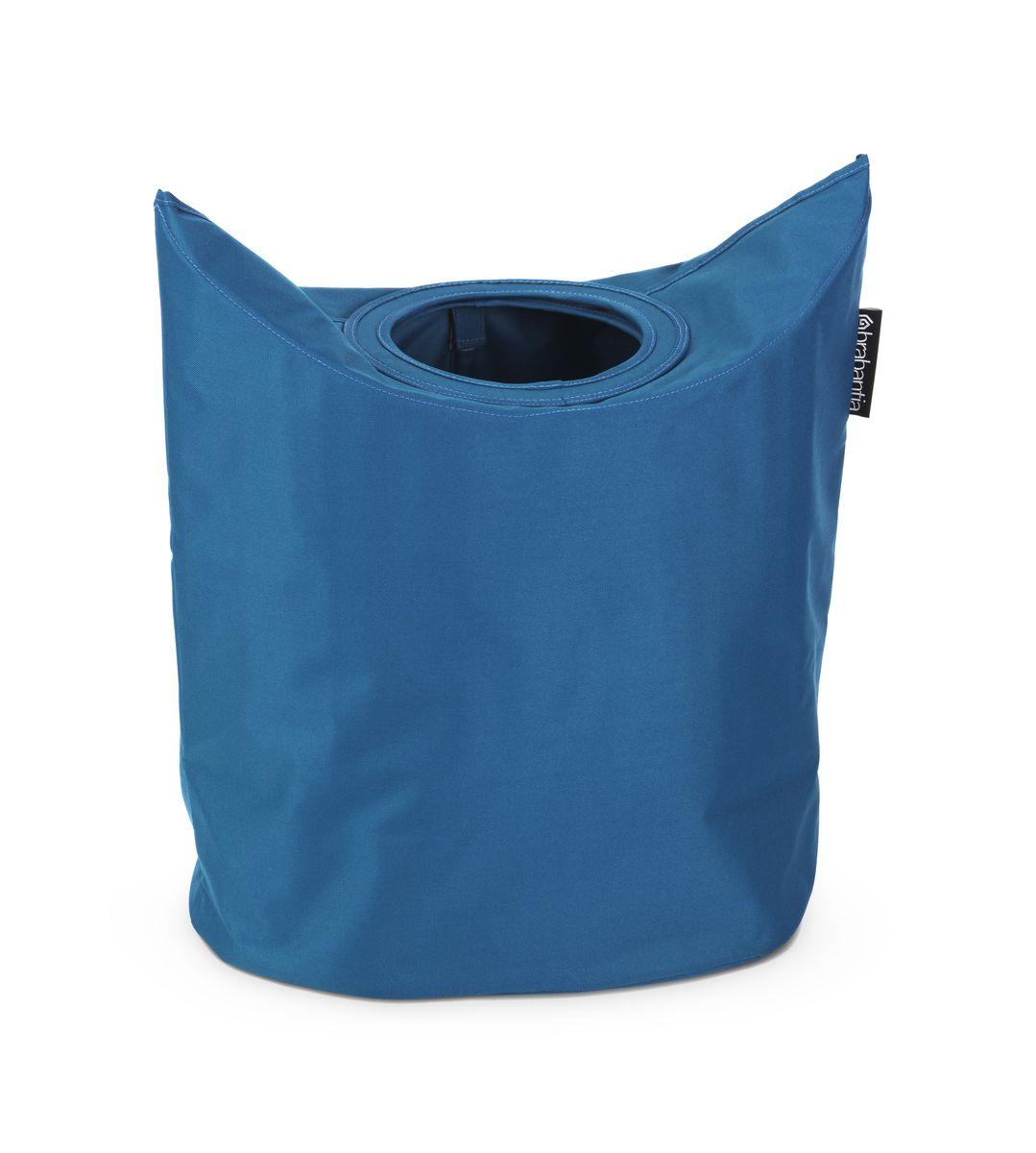 Сумка для белья Brabantia, цвет: синий. 102486531-105Оригинальная сумка для белья экономит место и превращает вашу стирку в увлекательное занятие. С помощью складывающихся магнитных ручек сумка закрывается и превращается в корзину для белья с загрузочным отверстием. Собрались стирать? Поднимите ручки, и ваша сумка готова к использованию. Загрузочное отверстие для быстрой загрузки белья – просто сложите магнитные ручки; Большие удобные ручки для переноски; Удобно загружать белье в стиральную машину – большая вместимость и широкое отверстие; 2 года гарантии Brabantia.