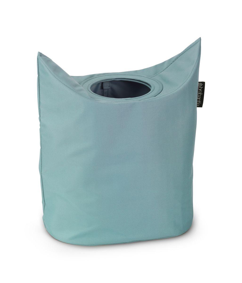 Сумка для белья Brabantia, цвет: мятный, 50 л. 102509391602Оригинальная сумка для белья Brabantia экономит место и превращает вашу стирку в увлекательное занятие. С помощью складывающихся магнитных ручек сумка закрывается и превращается в корзину для белья с загрузочным отверстием. Собрались стирать? Поднимите ручки, и ваша сумка готова к использованию. Особенности: Загрузочное отверстие для быстрой загрузки белья – просто сложите магнитные ручки; Большие удобные ручки для переноски; Удобно загружать белье в стиральную машину – большая вместимость и широкое отверстие; 2 года гарантии Brabantia; Объем 50 л.