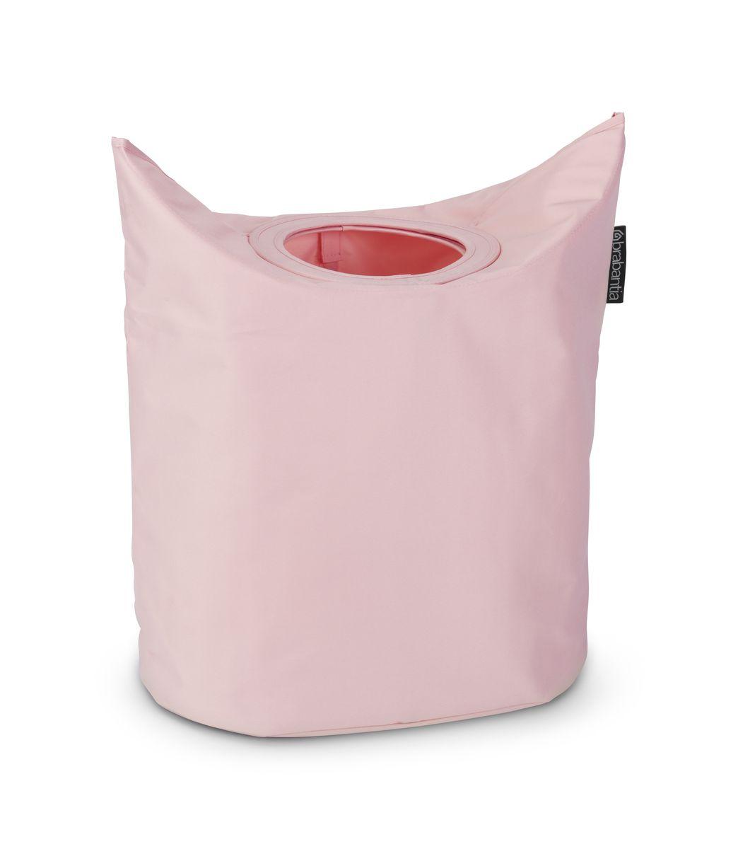 Сумка для белья Brabantia, цвет: розовый, 50 л. 102547S03301004Оригинальная сумка для белья Brabantia экономит место и превращает вашу стирку в увлекательное занятие. С помощью складывающихся магнитных ручек сумка закрывается и превращается в корзину для белья с загрузочным отверстием. Собрались стирать? Поднимите ручки, и ваша сумка готова к использованию. Особенности: Загрузочное отверстие для быстрой загрузки белья - просто сложите магнитные ручки; Большие удобные ручки для переноски; Удобно загружать белье в стиральную машину - большая вместимость и широкое отверстие; 2 года гарантии Brabantia; Объем 50 л.