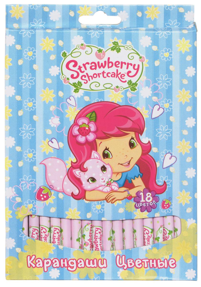 Action! Набор цветных карандашей Strawberry Shortcake 18 цветов72523WDЦветные карандаши Action Strawberry Shortcake откроют юным художникам новые горизонты для творчества, а также помогут отлично развить мелкую моторику рук, цветовое восприятие, фантазию и воображение. Традиционный круглый корпус изготовлен из натуральной древесины и оформлен рисунками Strawberry Shortcake на розовом фоне. Карандаши удобно держать в руках, а мягкий грифель не требует сильного нажима.Комплект включает 18 заточенных карандашей ярких насыщенных цветов.
