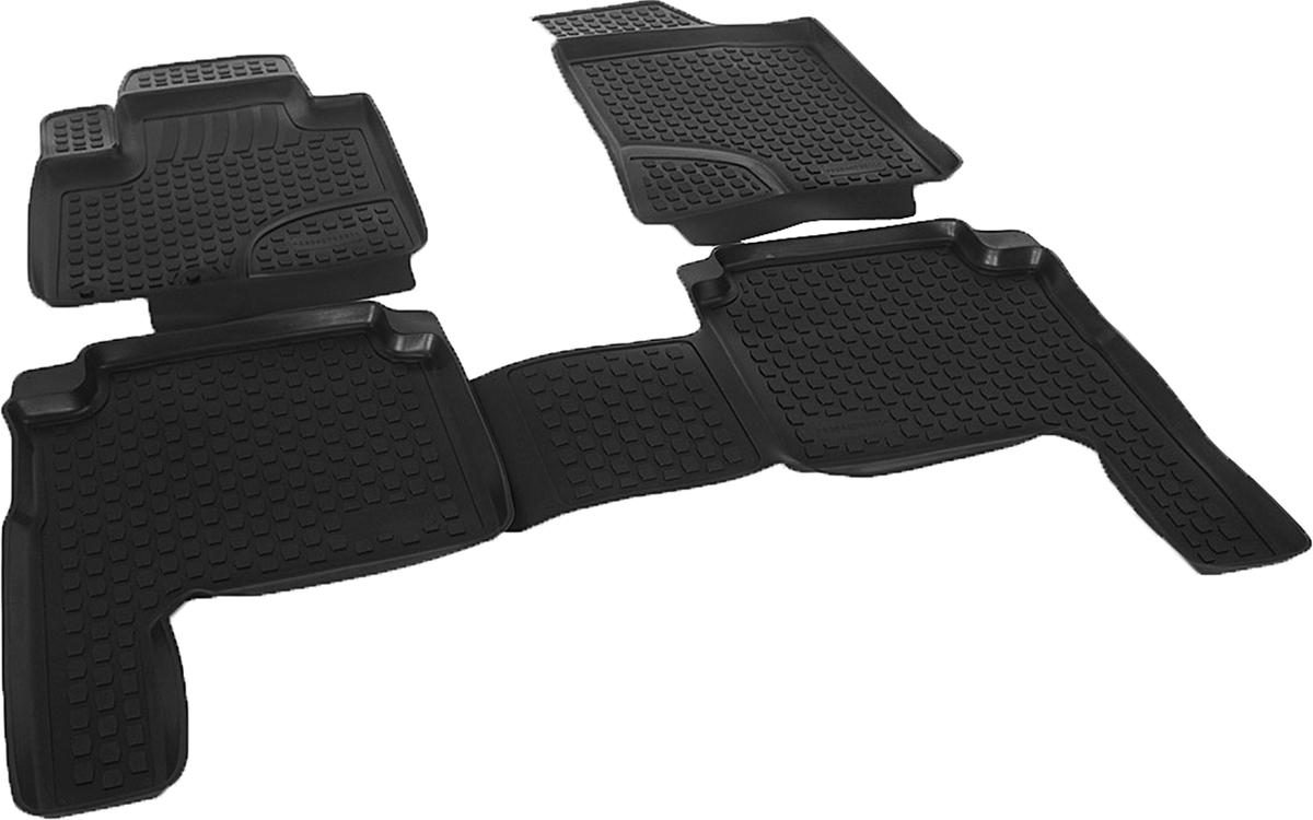 Коврики в салон автомобиля L.Locker, для Hyundai Santa Fe II (10-), 4 штВетерок 2ГФКоврики L.Locker производятся индивидуально для каждой модели автомобиля из современного и экологически чистого материала. Изделия точно повторяют геометрию пола автомобиля, имеют высокий борт, обладают повышенной износоустойчивостью, антискользящими свойствами, лишены резкого запаха и сохраняют свои потребительские свойства в широком диапазоне температур (от -50°С до +80°С). Рисунок ковриков специально спроектирован для уменьшения скольжения ног водителя и имеет достаточную глубину, препятствующую свободному перемещению жидкости и грязи на поверхности. Одновременно с этим рисунок не создает дискомфорта при вождении автомобиля. Водительский ковер с предустановленными креплениями фиксируется на штатные места в полу салона автомобиля. Новая технология системы креплений герметична, не дает влаге и грязи проникать внутрь через крепеж на обшивку пола.