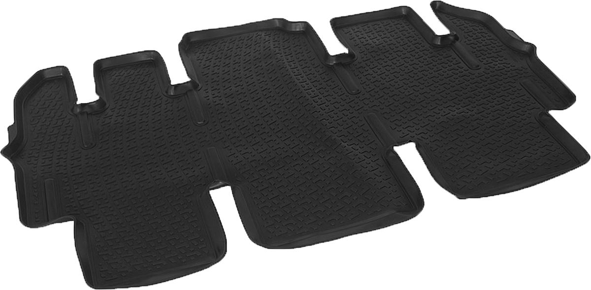 Коврики в салон автомобиля L.Locker, для Hyundai Starex (07-), второй ряд сидений0216070101Коврики L.Locker производятся индивидуально для каждой модели автомобиля из современного и экологически чистого материала. Изделия точно повторяют геометрию пола автомобиля, имеют высокий борт, обладают повышенной износоустойчивостью, антискользящими свойствами, лишены резкого запаха и сохраняют свои потребительские свойства в широком диапазоне температур (от -50°С до +80°С). Рисунок ковриков специально спроектирован для уменьшения скольжения ног водителя и имеет достаточную глубину, препятствующую свободному перемещению жидкости и грязи на поверхности. Одновременно с этим рисунок не создает дискомфорта при вождении автомобиля. Водительский ковер с предустановленными креплениями фиксируется на штатные места в полу салона автомобиля. Новая технология системы креплений герметична, не дает влаге и грязи проникать внутрь через крепеж на обшивку пола.