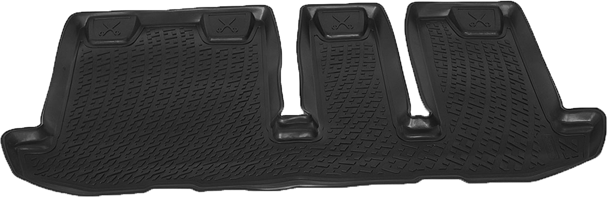 Коврики в салон автомобиля L.Locker, для Nissan Pathfinder IV (12-), третий ряд сиденийВетерок 2ГФКоврики L.Locker производятся индивидуально для каждой модели автомобиля из современного и экологически чистого материала. Изделия точно повторяют геометрию пола автомобиля, имеют высокий борт, обладают повышенной износоустойчивостью, антискользящими свойствами, лишены резкого запаха и сохраняют свои потребительские свойства в широком диапазоне температур (от -50°С до +80°С). Рисунок ковриков специально спроектирован для уменьшения скольжения ног водителя и имеет достаточную глубину, препятствующую свободному перемещению жидкости и грязи на поверхности. Одновременно с этим рисунок не создает дискомфорта при вождении автомобиля. Водительский ковер с предустановленными креплениями фиксируется на штатные места в полу салона автомобиля. Новая технология системы креплений герметична, не дает влаге и грязи проникать внутрь через крепеж на обшивку пола.