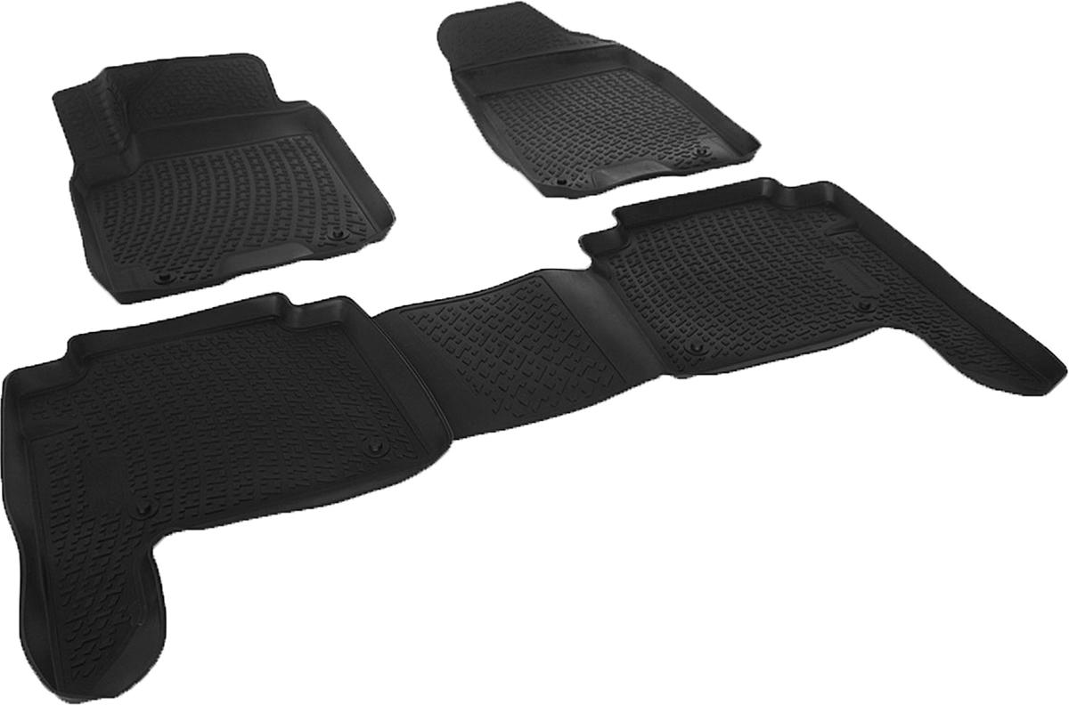 Коврики в салон автомобиля L.Locker, для Nissan Patrol VI Y62 (10-), 3 штВетерок 2ГФКоврики L.Locker производятся индивидуально для каждой модели автомобиля из современного и экологически чистого материала. Изделия точно повторяют геометрию пола автомобиля, имеют высокий борт, обладают повышенной износоустойчивостью, антискользящими свойствами, лишены резкого запаха и сохраняют свои потребительские свойства в широком диапазоне температур (от -50°С до +80°С). Рисунок ковриков специально спроектирован для уменьшения скольжения ног водителя и имеет достаточную глубину, препятствующую свободному перемещению жидкости и грязи на поверхности. Одновременно с этим рисунок не создает дискомфорта при вождении автомобиля. Водительский ковер с предустановленными креплениями фиксируется на штатные места в полу салона автомобиля. Новая технология системы креплений герметична, не дает влаге и грязи проникать внутрь через крепеж на обшивку пола.