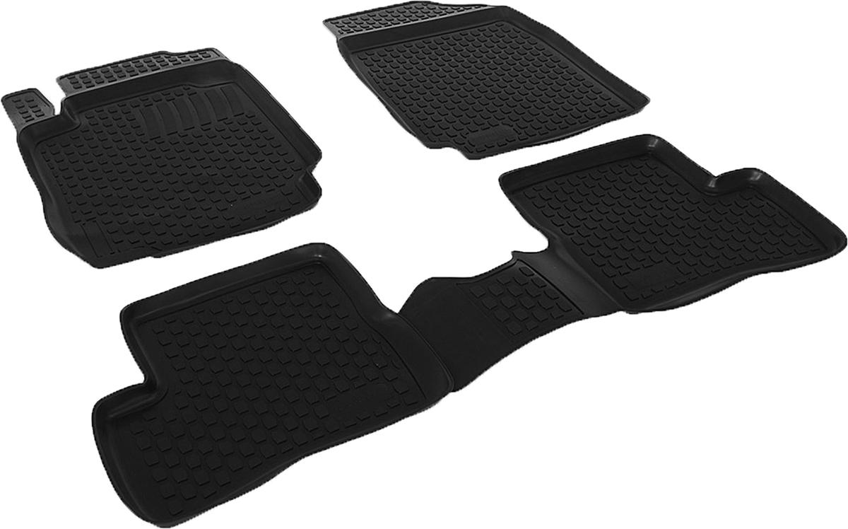 Коврики в салон автомобиля L.Locker, для Nissan Micra (02-), 4 штF0152431LDКоврики L.Locker производятся индивидуально для каждой модели автомобиля из современного и экологически чистого материала. Изделия точно повторяют геометрию пола автомобиля, имеют высокий борт, обладают повышенной износоустойчивостью, антискользящими свойствами, лишены резкого запаха и сохраняют свои потребительские свойства в широком диапазоне температур (от -50°С до +80°С). Рисунок ковриков специально спроектирован для уменьшения скольжения ног водителя и имеет достаточную глубину, препятствующую свободному перемещению жидкости и грязи на поверхности. Одновременно с этим рисунок не создает дискомфорта при вождении автомобиля. Водительский ковер с предустановленными креплениями фиксируется на штатные места в полу салона автомобиля. Новая технология системы креплений герметична, не дает влаге и грязи проникать внутрь через крепеж на обшивку пола.