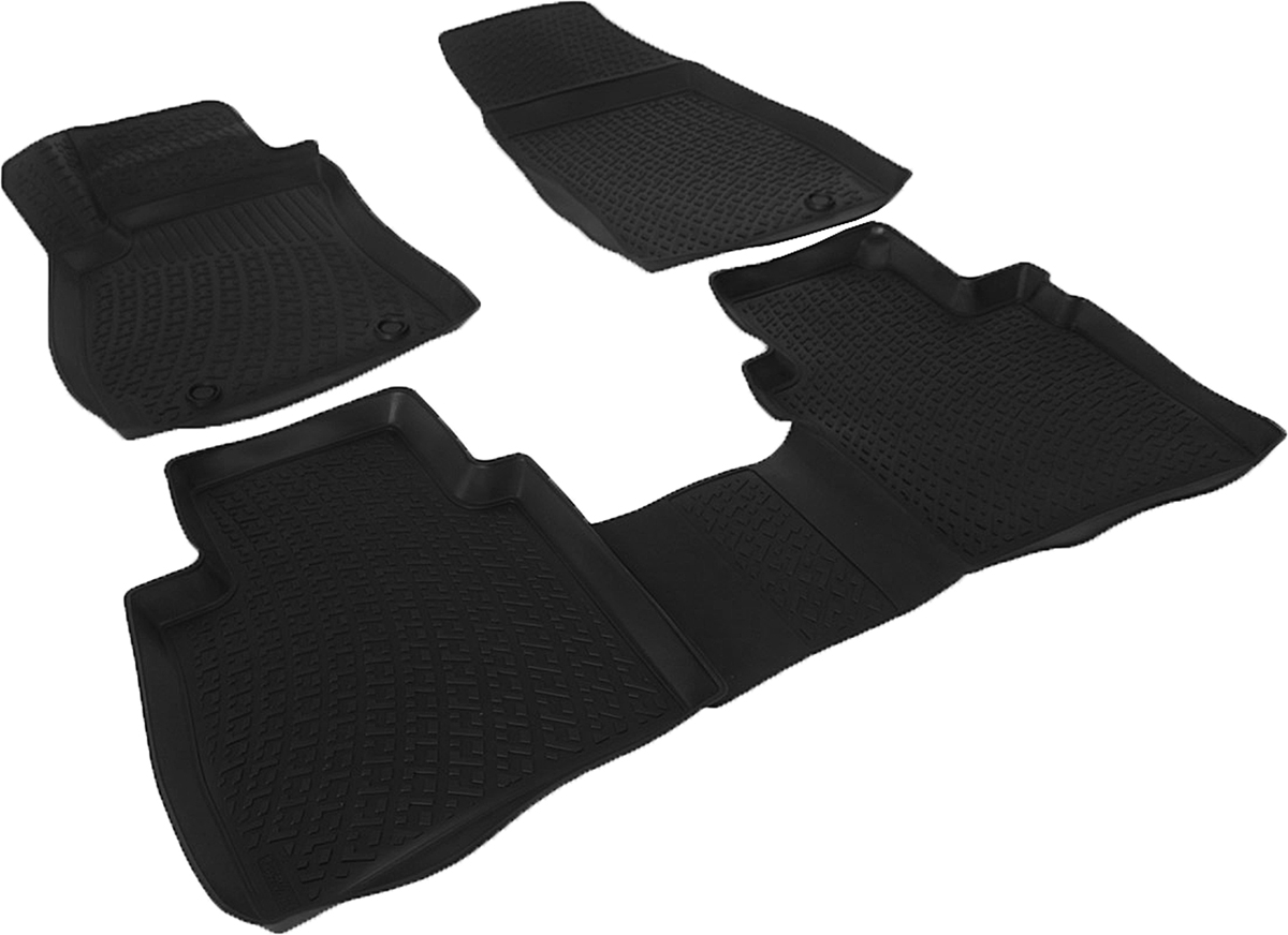 Коврики в салон автомобиля L.Locker, для Nissan Tiida II hb (15-)Ветерок 2ГФКоврики L.Locker производятся индивидуально для каждой модели автомобиля из современного и экологически чистого материала. Изделия точно повторяют геометрию пола автомобиля, имеют высокий борт, обладают повышенной износоустойчивостью, антискользящими свойствами, лишены резкого запаха и сохраняют свои потребительские свойства в широком диапазоне температур (от -50°С до +80°С). Рисунок ковриков специально спроектирован для уменьшения скольжения ног водителя и имеет достаточную глубину, препятствующую свободному перемещению жидкости и грязи на поверхности. Одновременно с этим рисунок не создает дискомфорта при вождении автомобиля. Водительский ковер с предустановленными креплениями фиксируется на штатные места в полу салона автомобиля. Новая технология системы креплений герметична, не дает влаге и грязи проникать внутрь через крепеж на обшивку пола.