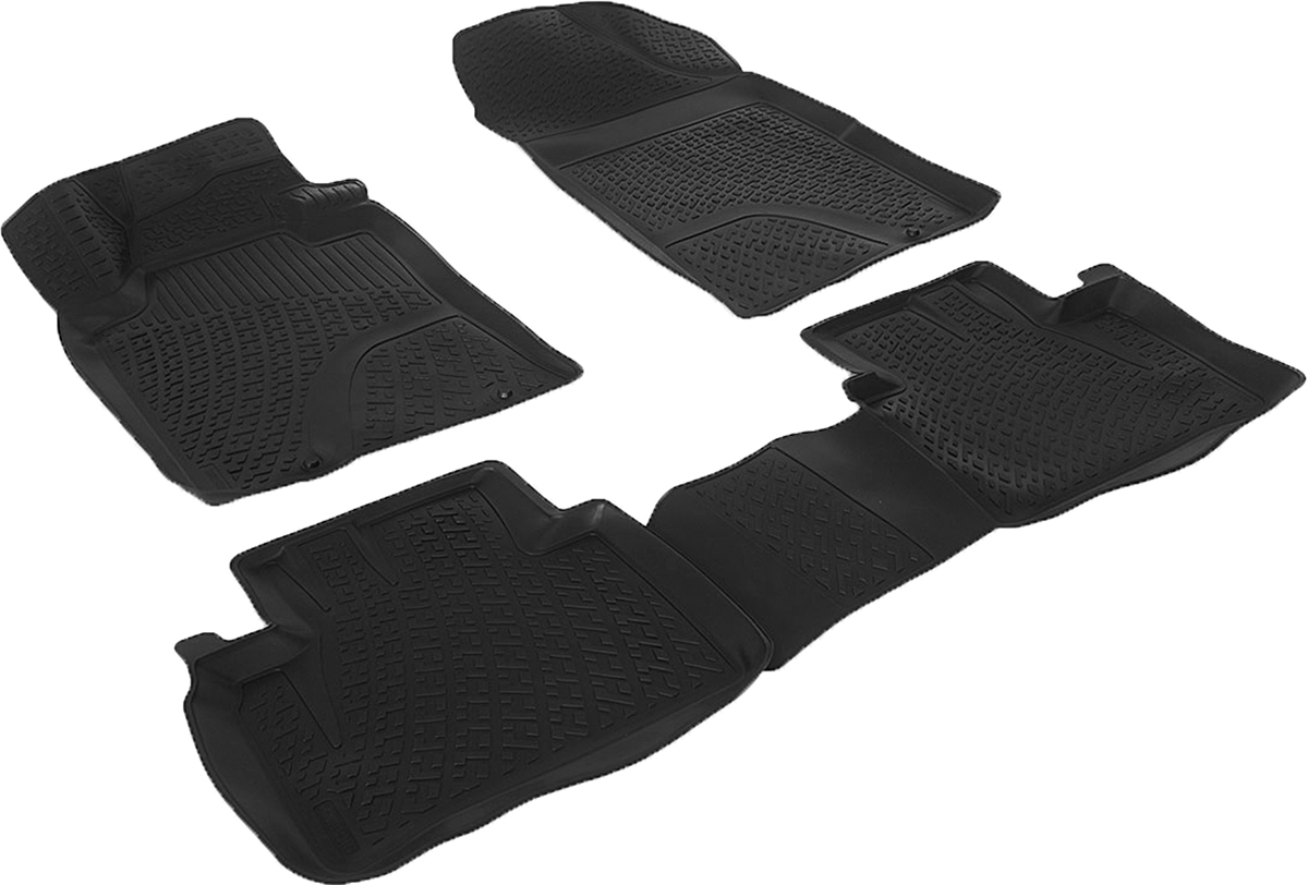 Коврики в салон автомобиля L.Locker, для Nissan Teana sd III (13-), 4 штTER-150m BEКоврики L.Locker производятся индивидуально для каждой модели автомобиля из современного и экологически чистого материала. Изделия точно повторяют геометрию пола автомобиля, имеют высокий борт, обладают повышенной износоустойчивостью, антискользящими свойствами, лишены резкого запаха и сохраняют свои потребительские свойства в широком диапазоне температур (от -50°С до +80°С). Рисунок ковриков специально спроектирован для уменьшения скольжения ног водителя и имеет достаточную глубину, препятствующую свободному перемещению жидкости и грязи на поверхности. Одновременно с этим рисунок не создает дискомфорта при вождении автомобиля. Водительский ковер с предустановленными креплениями фиксируется на штатные места в полу салона автомобиля. Новая технология системы креплений герметична, не дает влаге и грязи проникать внутрь через крепеж на обшивку пола.