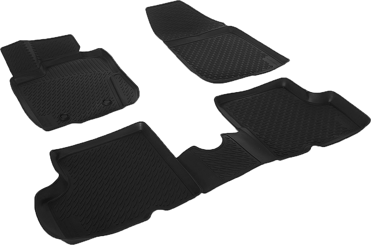 Коврики в салон автомобиля L.Locker, для Nissan Terrano III 4 WD (14-), 4 шт0133010101Коврики L.Locker производятся индивидуально для каждой модели автомобиля из современного и экологически чистого материала. Изделия точно повторяют геометрию пола автомобиля, имеют высокий борт, обладают повышенной износоустойчивостью, антискользящими свойствами, лишены резкого запаха и сохраняют свои потребительские свойства в широком диапазоне температур (от -50°С до +80°С). Рисунок ковриков специально спроектирован для уменьшения скольжения ног водителя и имеет достаточную глубину, препятствующую свободному перемещению жидкости и грязи на поверхности. Одновременно с этим рисунок не создает дискомфорта при вождении автомобиля. Водительский ковер с предустановленными креплениями фиксируется на штатные места в полу салона автомобиля. Новая технология системы креплений герметична, не дает влаге и грязи проникать внутрь через крепеж на обшивку пола.
