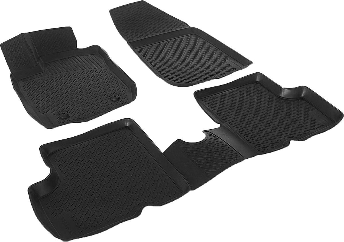 Коврики в салон автомобиля L.Locker, для Renault Duster 2WD (10-), 4 шт0208050101Коврики L.Locker производятся индивидуально для каждой модели автомобиля из современного и экологически чистого материала. Изделия точно повторяют геометрию пола автомобиля, имеют высокий борт, обладают повышенной износоустойчивостью, антискользящими свойствами, лишены резкого запаха и сохраняют свои потребительские свойства в широком диапазоне температур (от -50°С до +80°С). Рисунок ковриков специально спроектирован для уменьшения скольжения ног водителя и имеет достаточную глубину, препятствующую свободному перемещению жидкости и грязи на поверхности. Одновременно с этим рисунок не создает дискомфорта при вождении автомобиля. Водительский ковер с предустановленными креплениями фиксируется на штатные места в полу салона автомобиля. Новая технология системы креплений герметична, не дает влаге и грязи проникать внутрь через крепеж на обшивку пола.