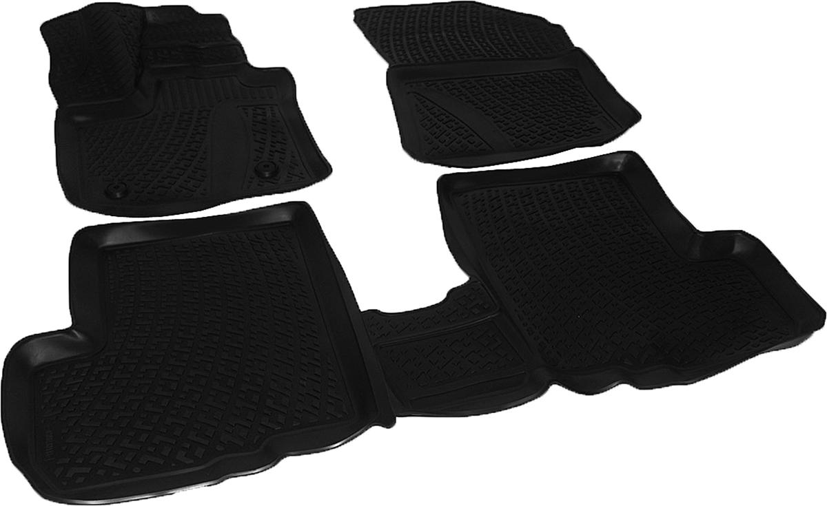 Коврики в салон автомобиля L.Locker, для Renault Lodgy (12-), 3 штВетерок 2ГФКоврики L.Locker производятся индивидуально для каждой модели автомобиля из современного и экологически чистого материала. Изделия точно повторяют геометрию пола автомобиля, имеют высокий борт, обладают повышенной износоустойчивостью, антискользящими свойствами, лишены резкого запаха и сохраняют свои потребительские свойства в широком диапазоне температур (от -50°С до +80°С). Рисунок ковриков специально спроектирован для уменьшения скольжения ног водителя и имеет достаточную глубину, препятствующую свободному перемещению жидкости и грязи на поверхности. Одновременно с этим рисунок не создает дискомфорта при вождении автомобиля. Водительский ковер с предустановленными креплениями фиксируется на штатные места в полу салона автомобиля. Новая технология системы креплений герметична, не дает влаге и грязи проникать внутрь через крепеж на обшивку пола.