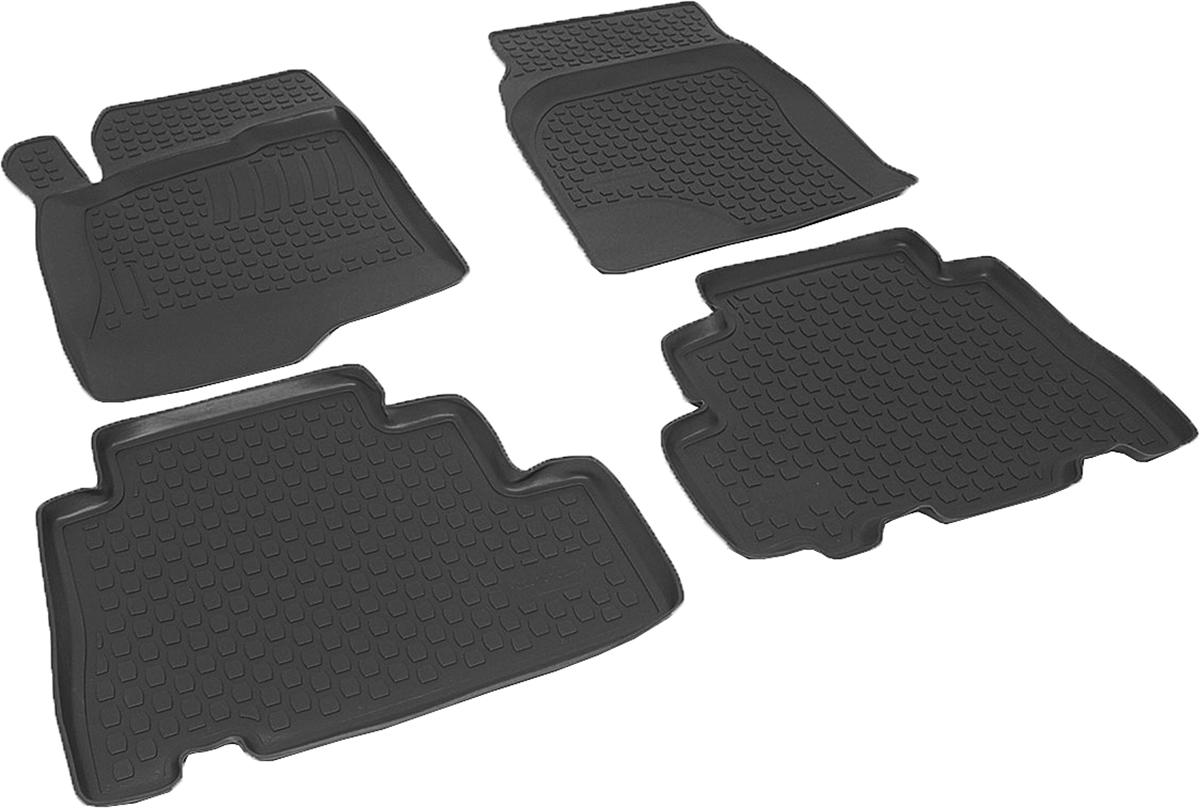 Коврики в салон автомобиля L.Locker, для Chevrolet Captiva (06-), 4 штВетерок 2ГФКоврики L.Locker производятся индивидуально для каждой модели автомобиля из современного и экологически чистого материала. Изделия точно повторяют геометрию пола автомобиля, имеют высокий борт, обладают повышенной износоустойчивостью, антискользящими свойствами, лишены резкого запаха и сохраняют свои потребительские свойства в широком диапазоне температур (от -50°С до +80°С). Рисунок ковриков специально спроектирован для уменьшения скольжения ног водителя и имеет достаточную глубину, препятствующую свободному перемещению жидкости и грязи на поверхности. Одновременно с этим рисунок не создает дискомфорта при вождении автомобиля. Водительский ковер с предустановленными креплениями фиксируется на штатные места в полу салона автомобиля. Новая технология системы креплений герметична, не дает влаге и грязи проникать внутрь через крепеж на обшивку пола.